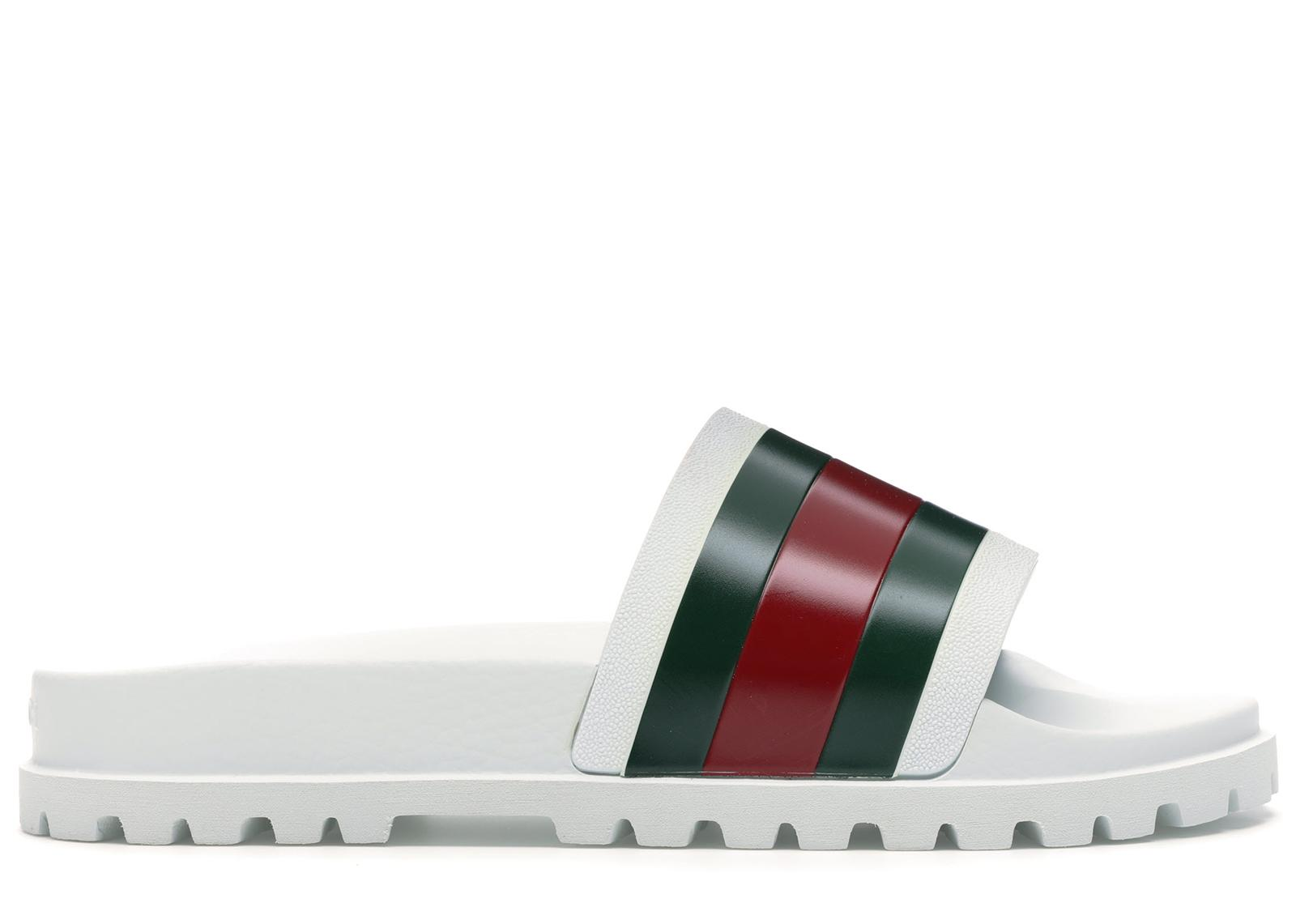 Gucci Rubber Web Detail Slides in