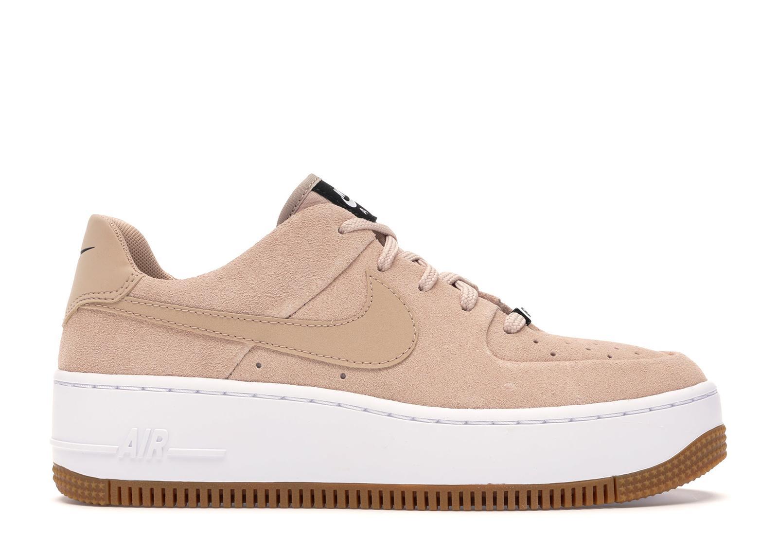 Nike Air Force Sage Low Beige Suede (w