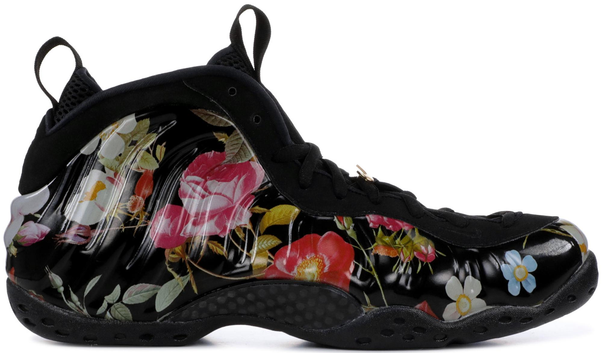 the latest 146df 86d8a Women's Black Air Foamposite One Floral (w)