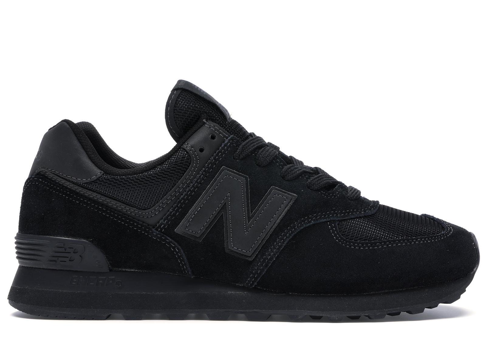 New Balance 574 Triple Black for Men - Lyst