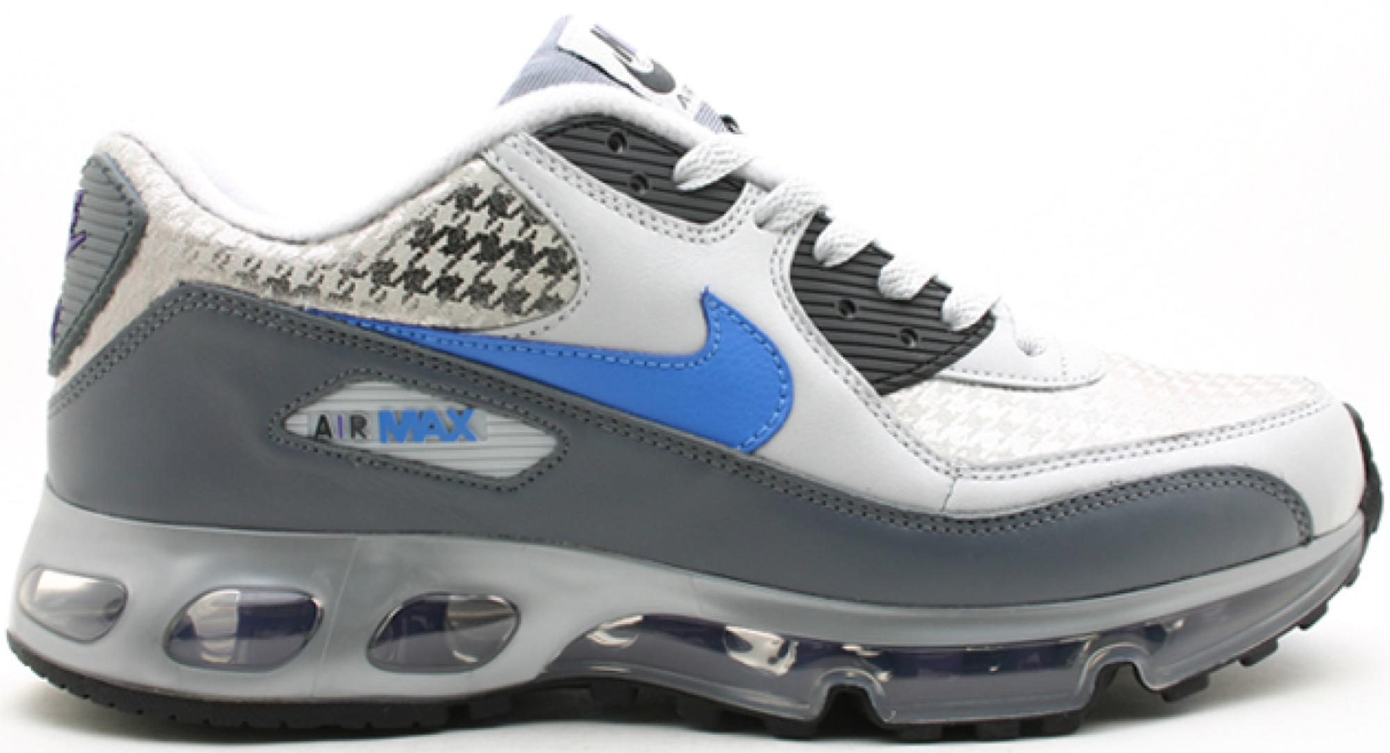 Air Max 90 Premium cracked metallic suede, leather and mesh sneakers