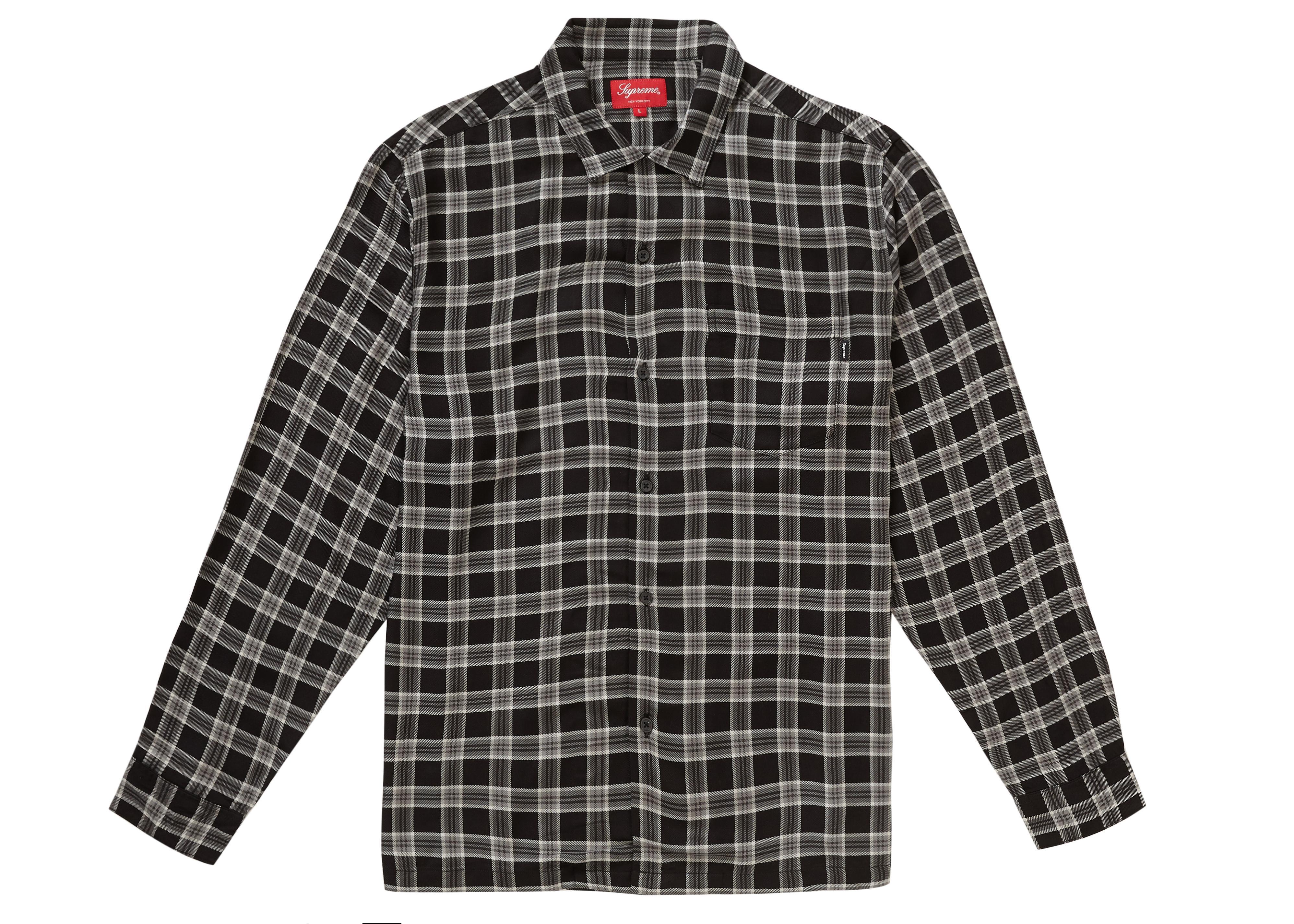 Plaid Rayon Shirt Black