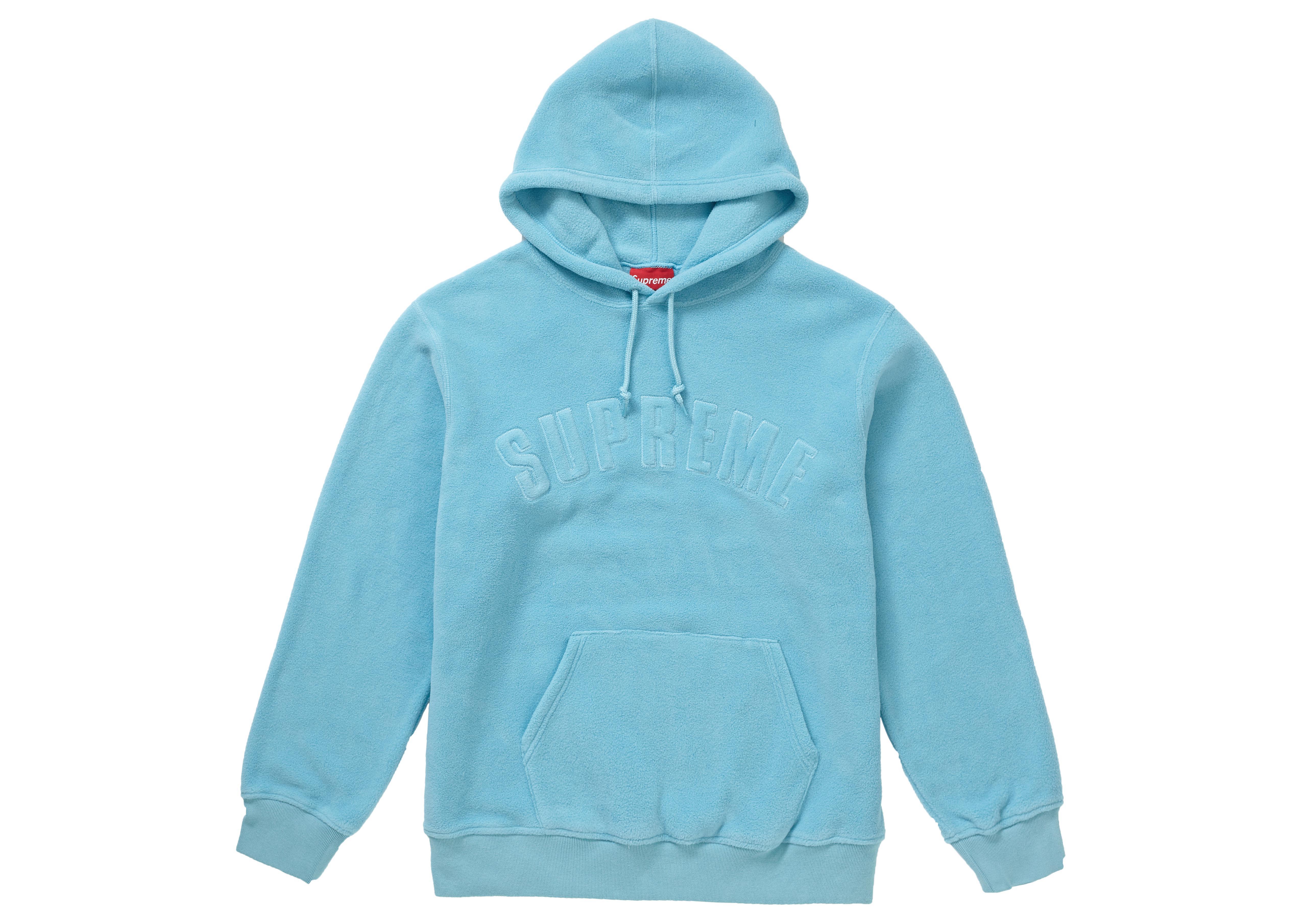 58c59534d4a4 Supreme - Polartec Hooded Sweatshirt (fw18) Light Blue for Men - Lyst. View  fullscreen