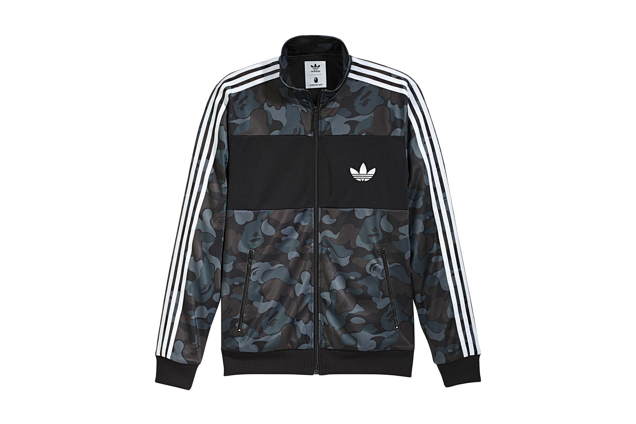 0ba0096a A Bathing Ape X Adidas Abc Camo Track Jacket Black in Black for Men ...