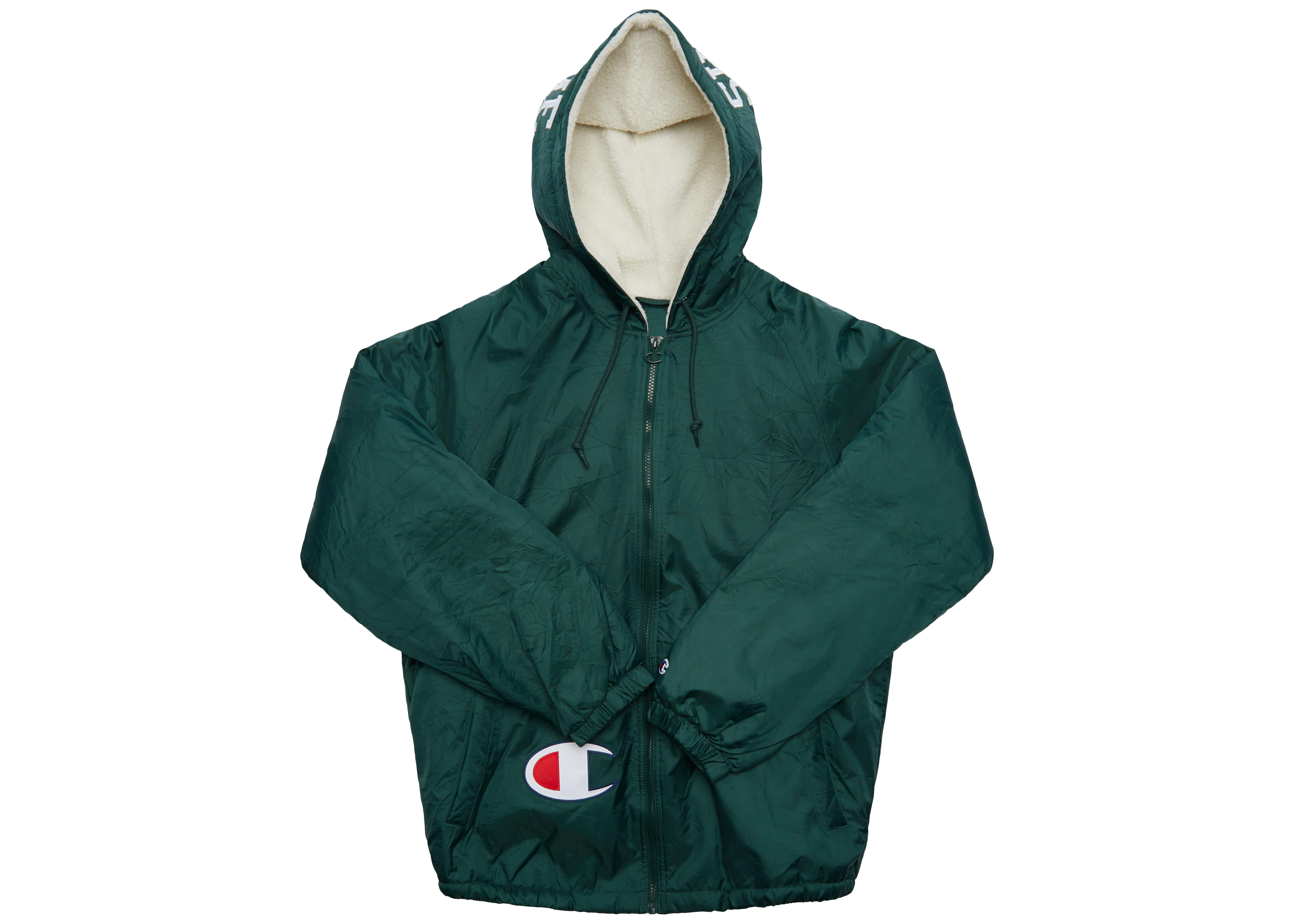 83fff30f Supreme Champion Sherpa Lined Hooded Jacket Dark Green in Green for ...