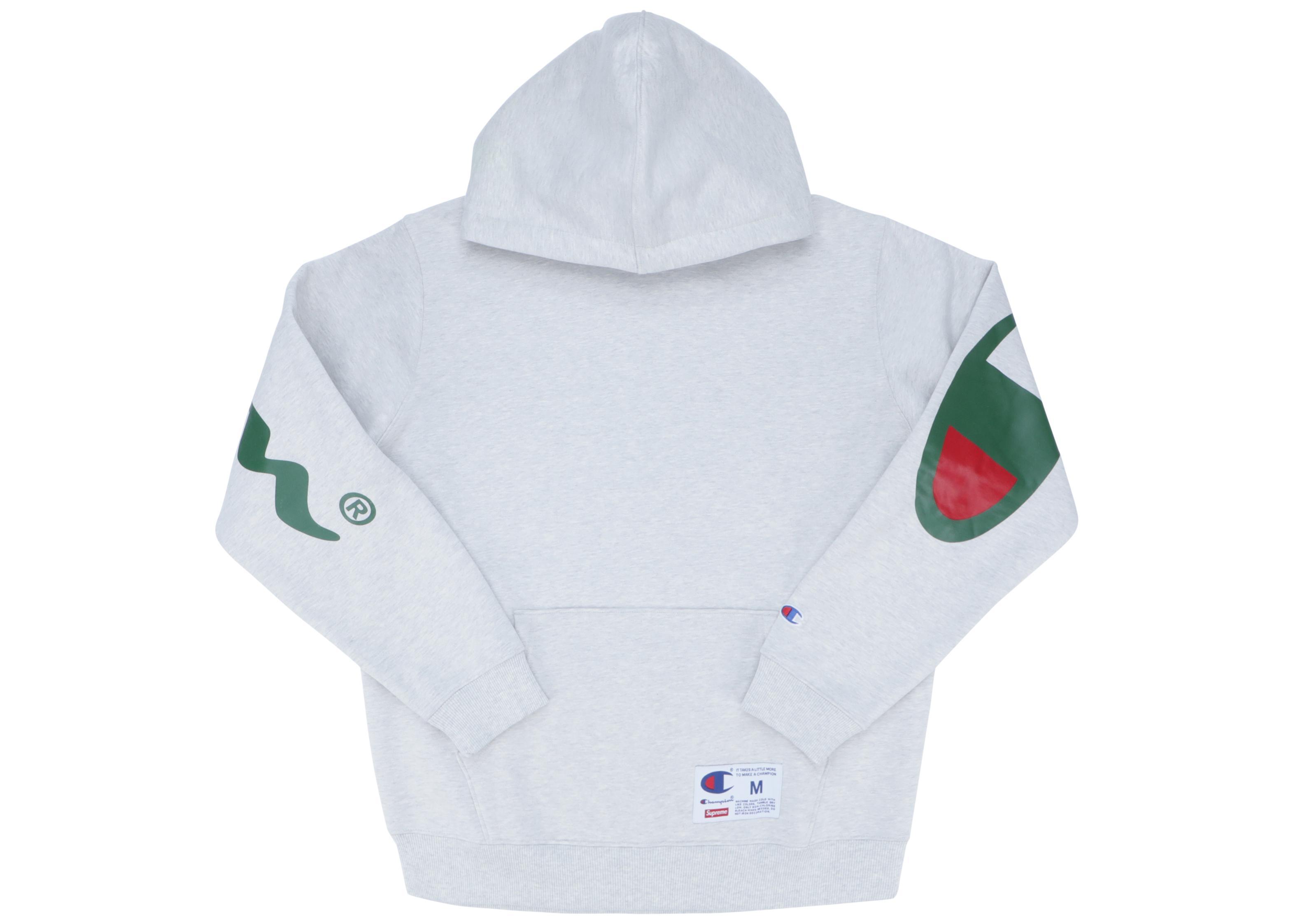 Supreme Champion Hooded Sweatshirt (ss18) Ash Grey In Gray For Men