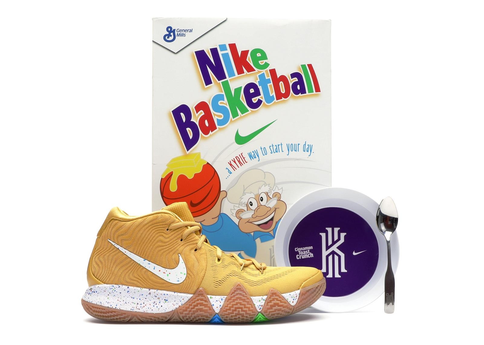 more photos 8eaa0 3be5f Men's Metallic Kyrie 4 Cinnamon Toast Crunch (special Cereal Box Package)
