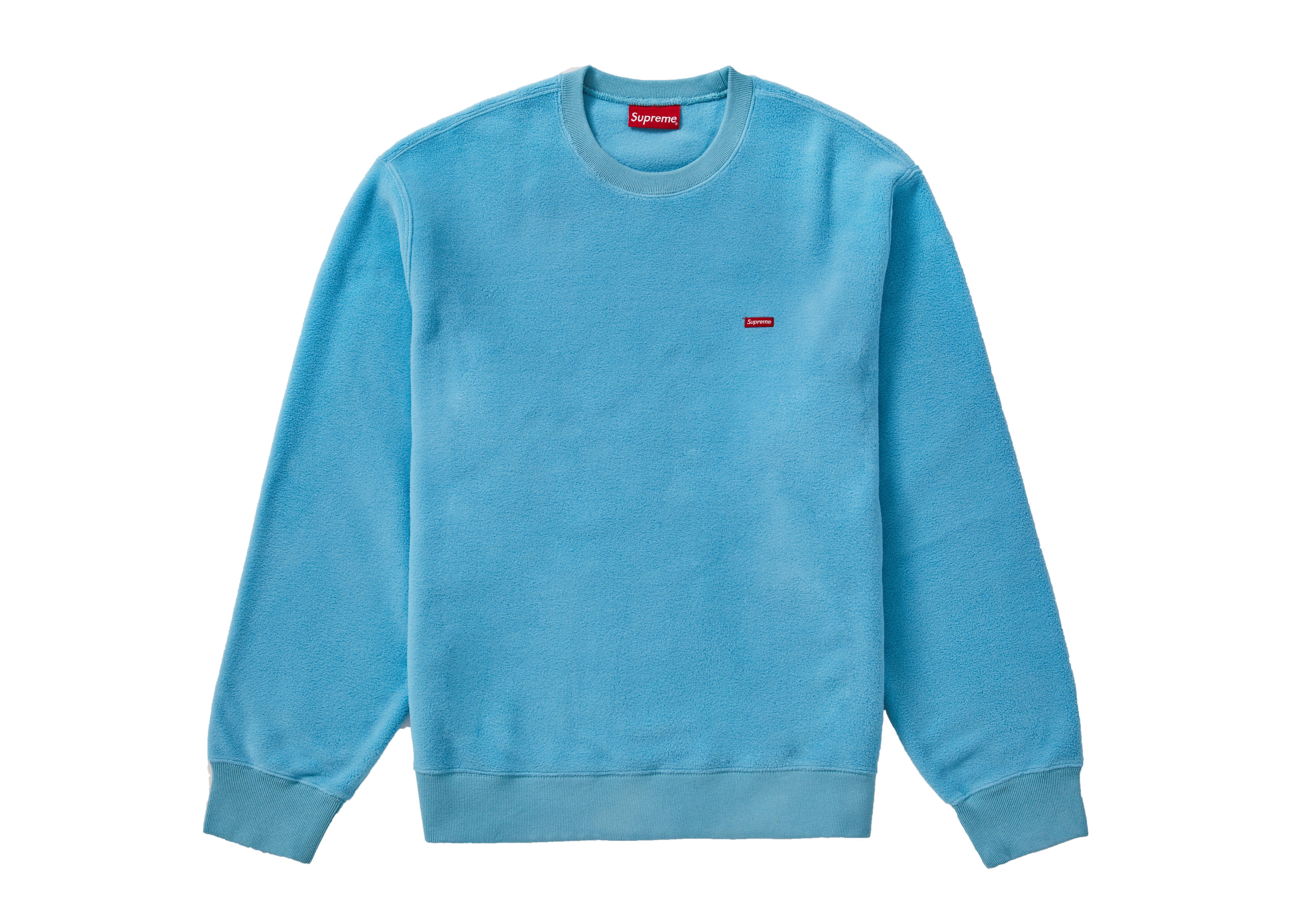 2d9037480292 Lyst - Supreme Polartec Small Box Crewneck Light Blue in Blue for Men
