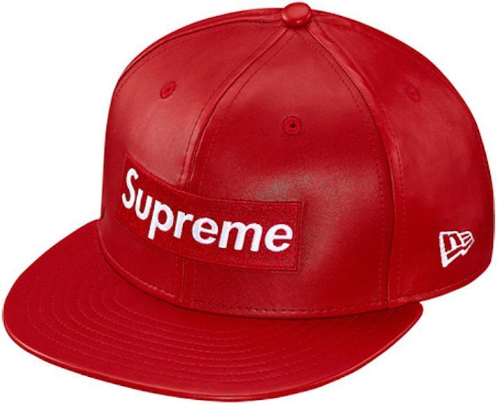 51e2f8357e093 Supreme Leather Box Logo New Era Hat Red in Red for Men - Save 41 ...