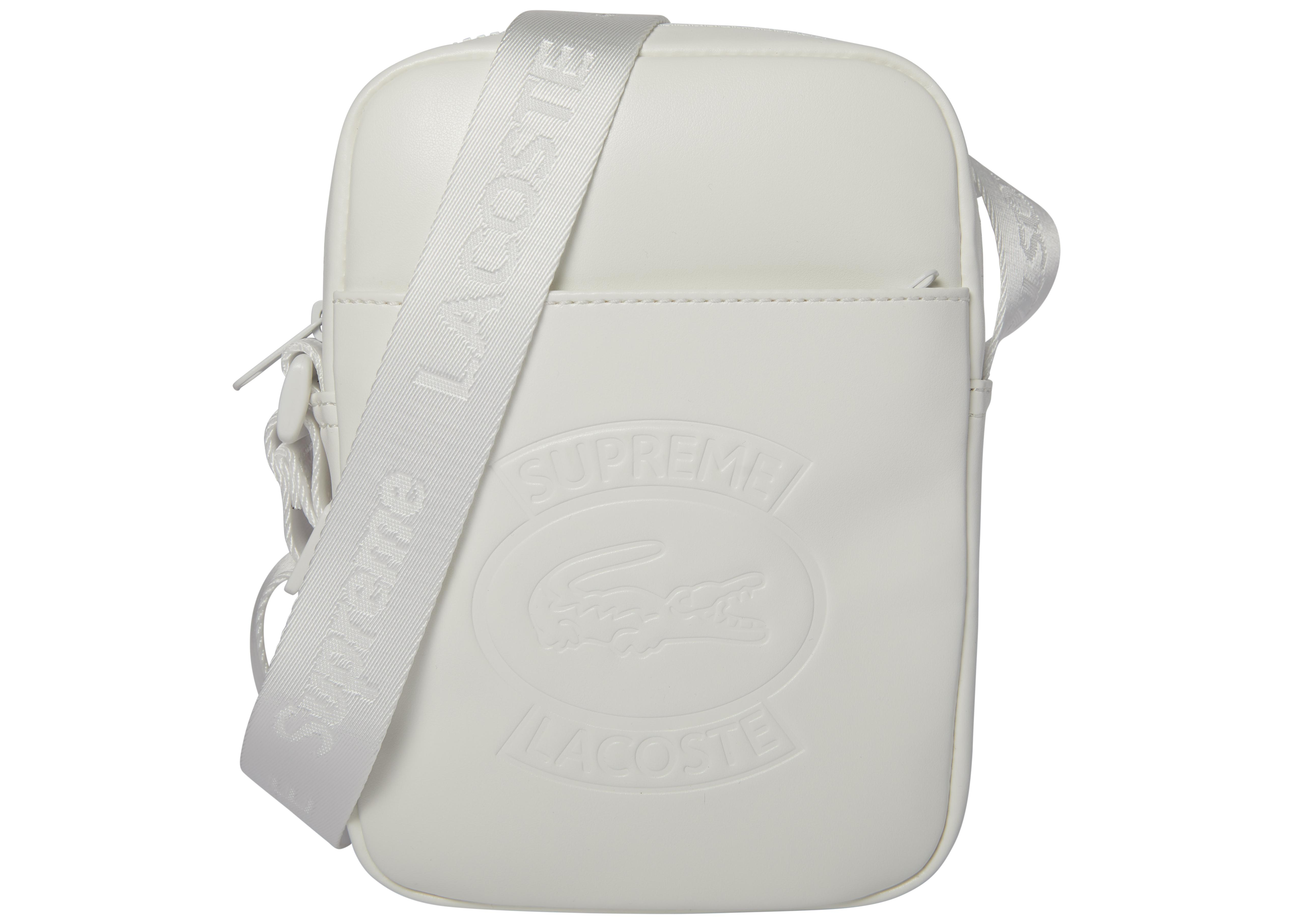 Supreme Lacoste Shoulder Bag White in White - Lyst