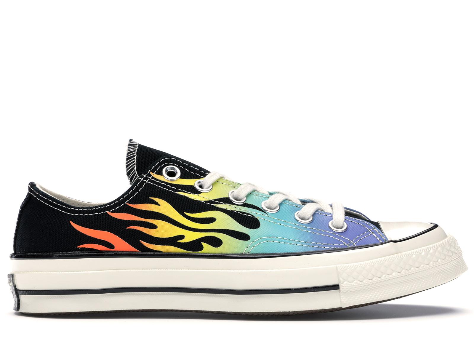 Men's Blue Chuck Taylor All star 70s Ox Flaming Archive Print