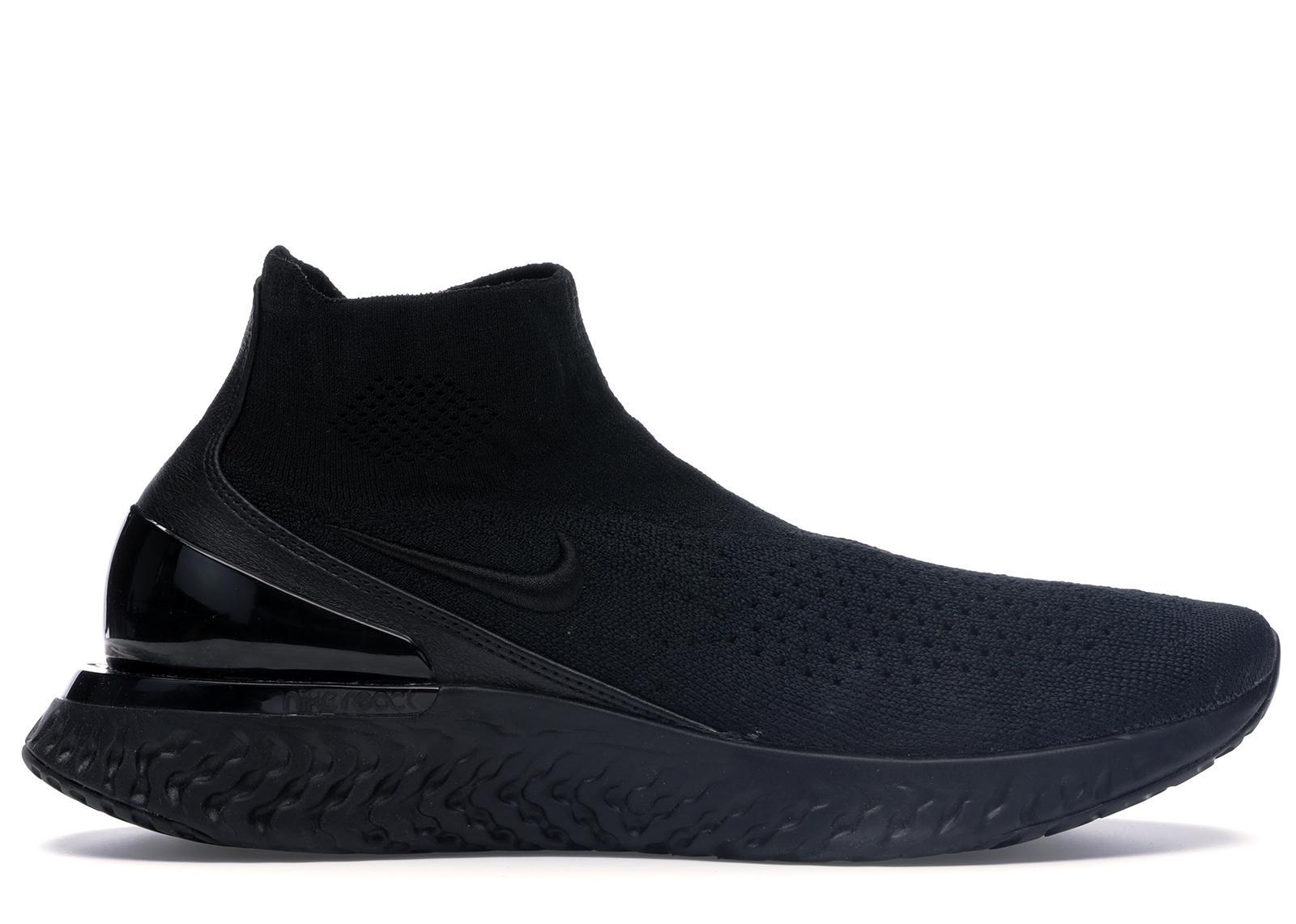 Nike Rise React Flyknit Triple Black