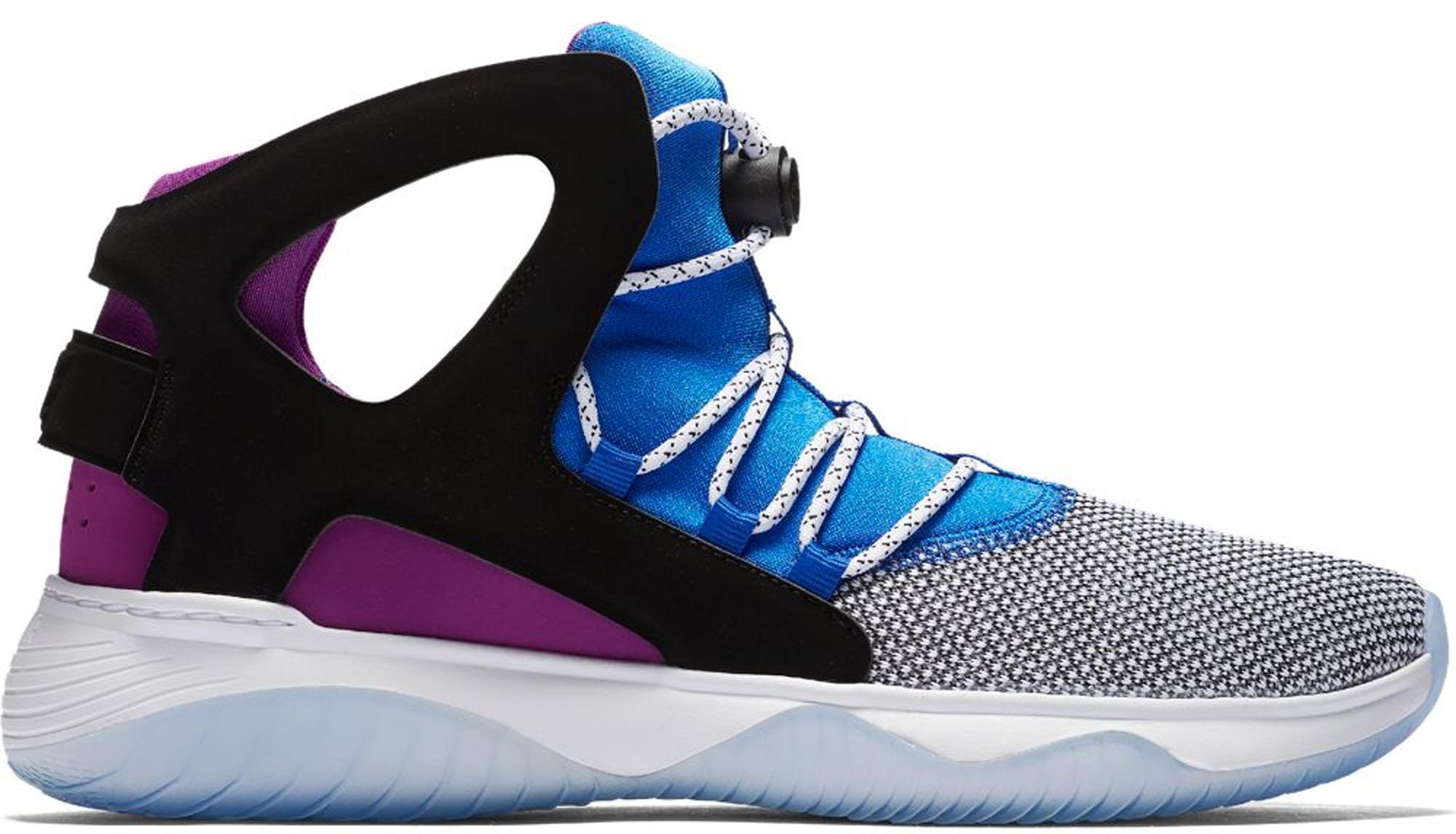 Nike Neoprene Air Flight Huarache Ultra White/black/lyon/blue Basketball Shoe 10 Men Us for Men - Save 80%