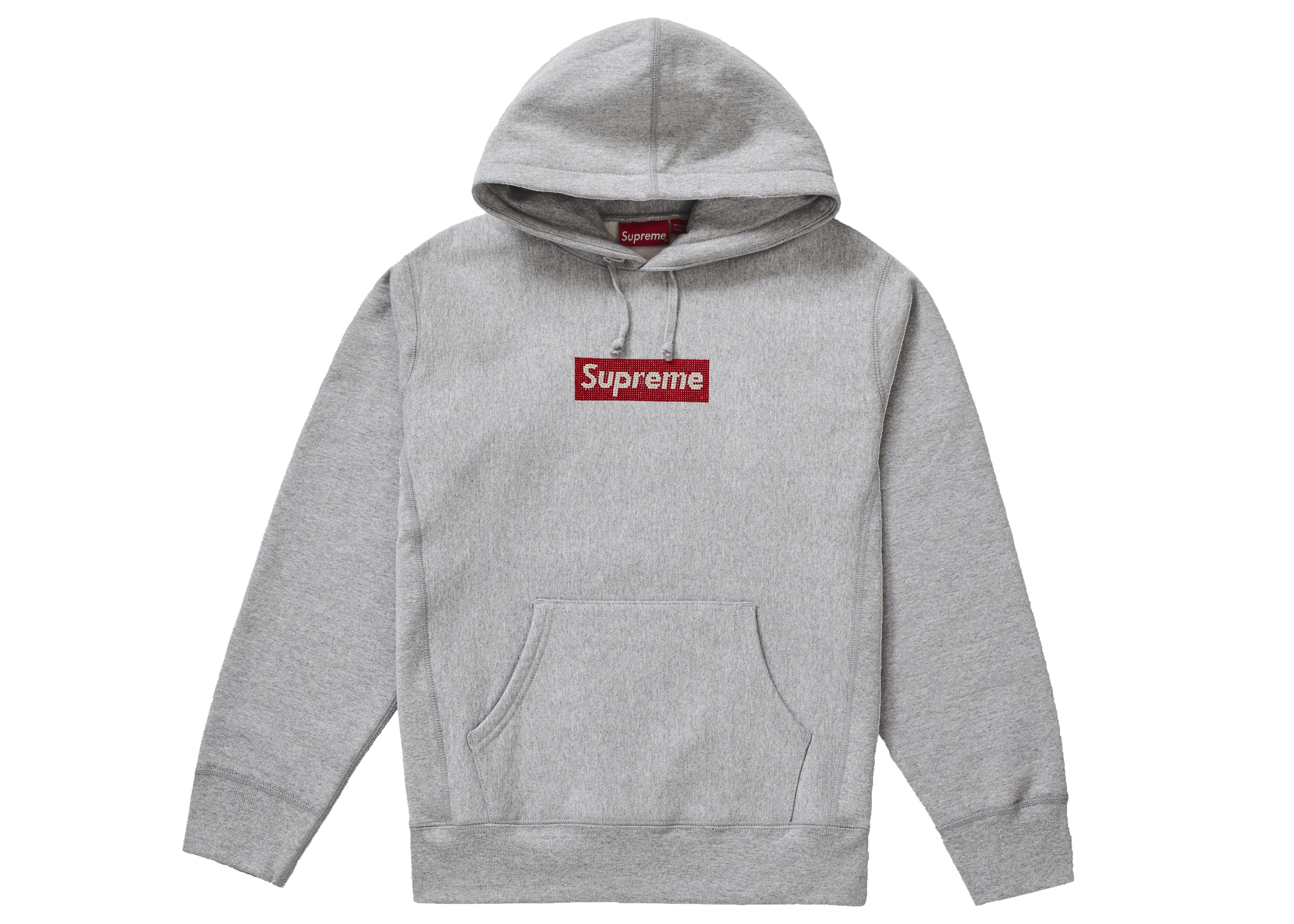 e48c56c8ebf7 Supreme Swarovski Box Logo Hooded Sweatshirt Heather Grey in Gray ...