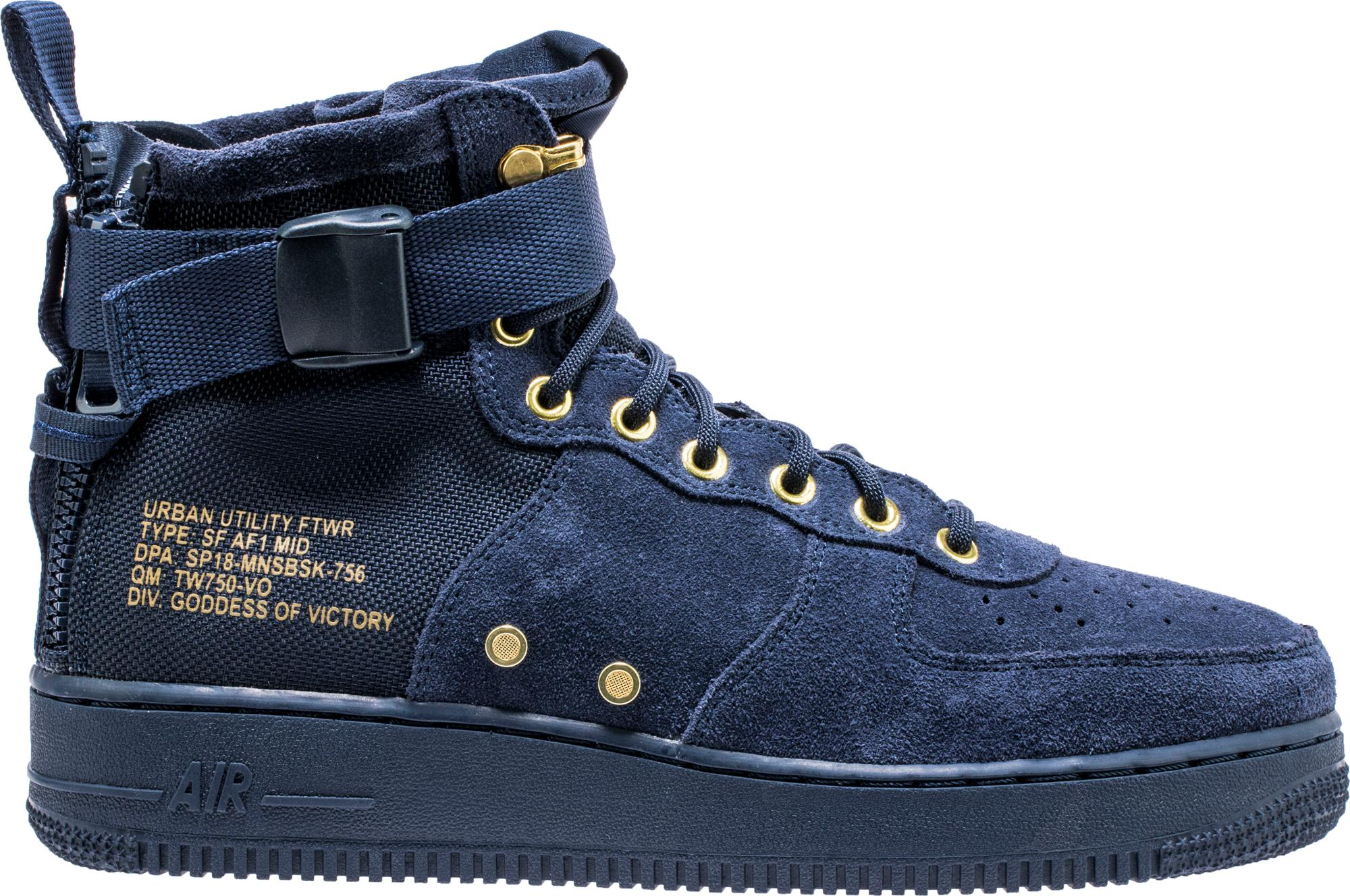 Nike Sf Air Force 1 Mid Obsidian
