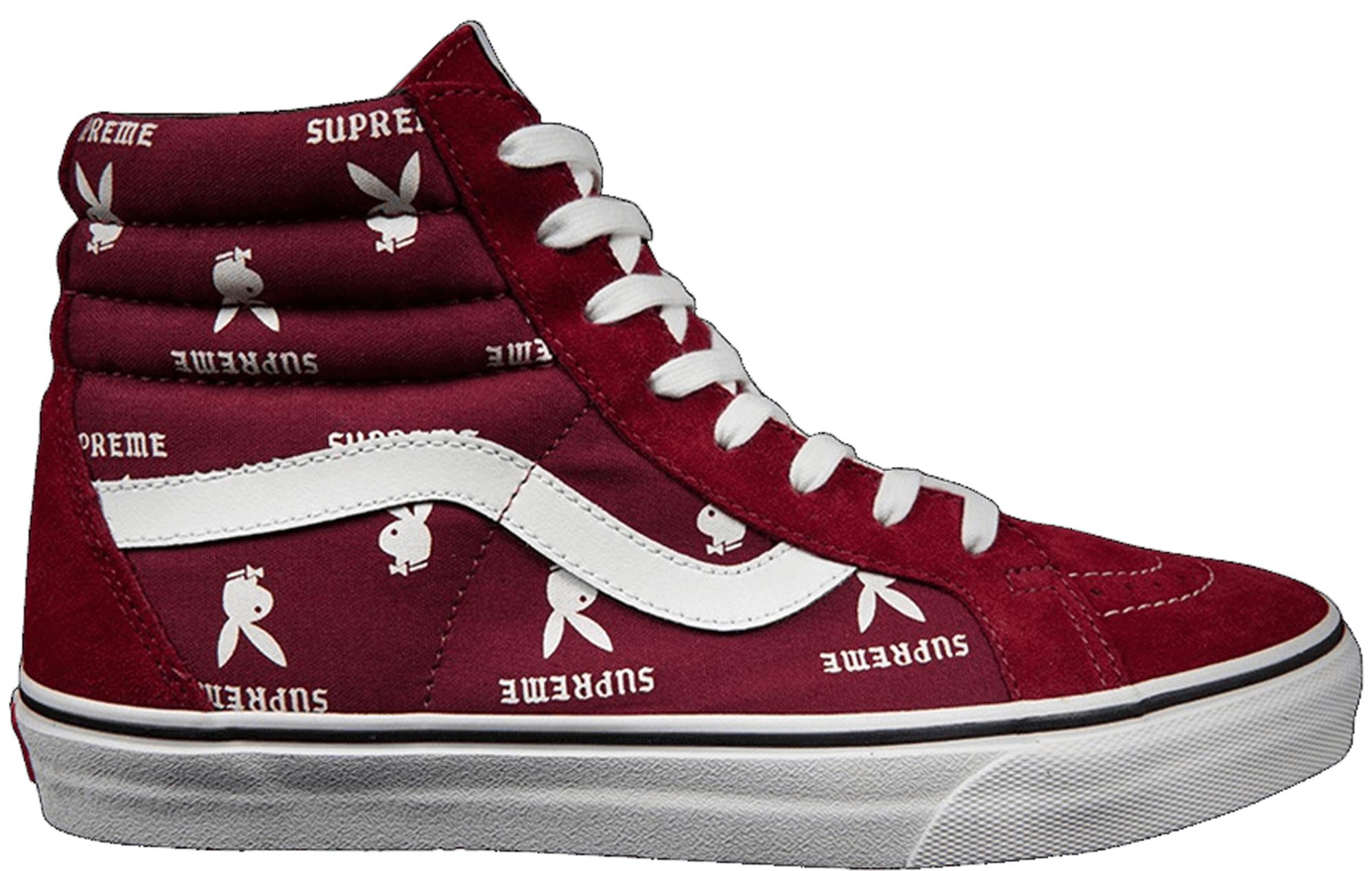 59bbf1434f Lyst - Vans Sk8-hi Supreme X Playboy Burgundy in Red for Men