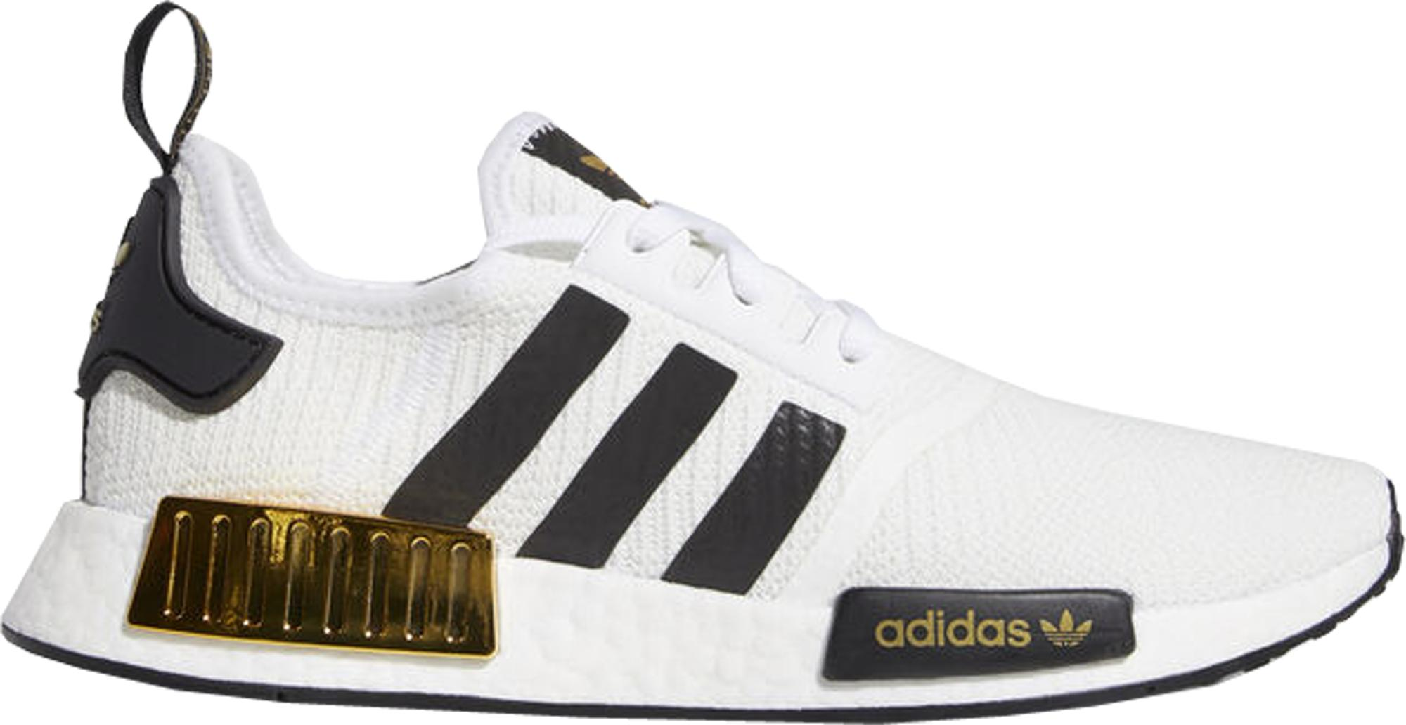 Adidas Nmd R1 White Black Gold For Men Lyst