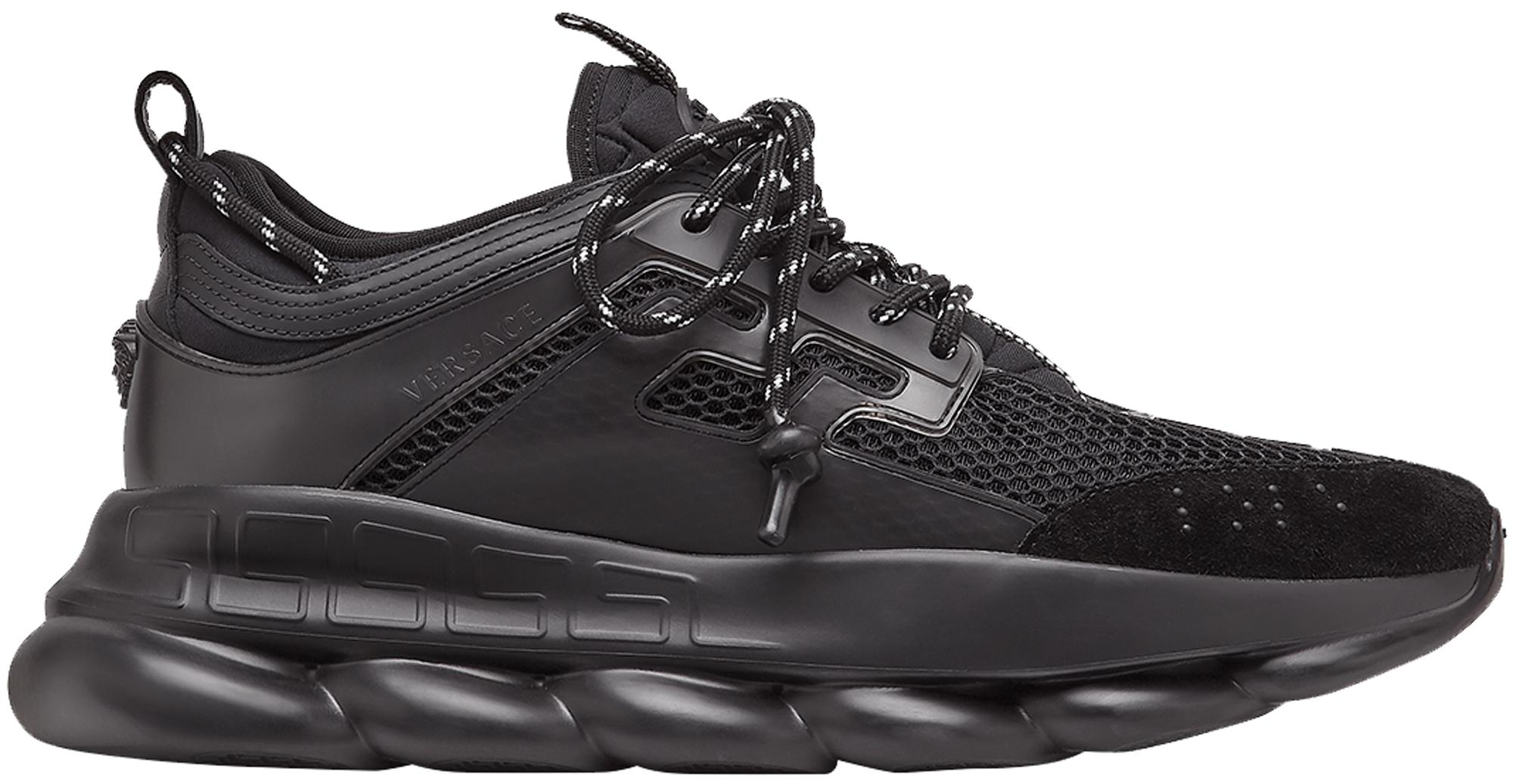 versace chain reaction sneakers black