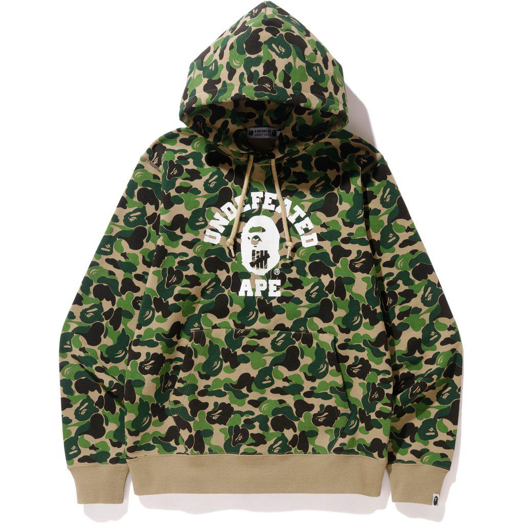 c0db3cc0257d Lyst - A Bathing Ape X Undefeated Abc College Pullover Hoodie Green ...