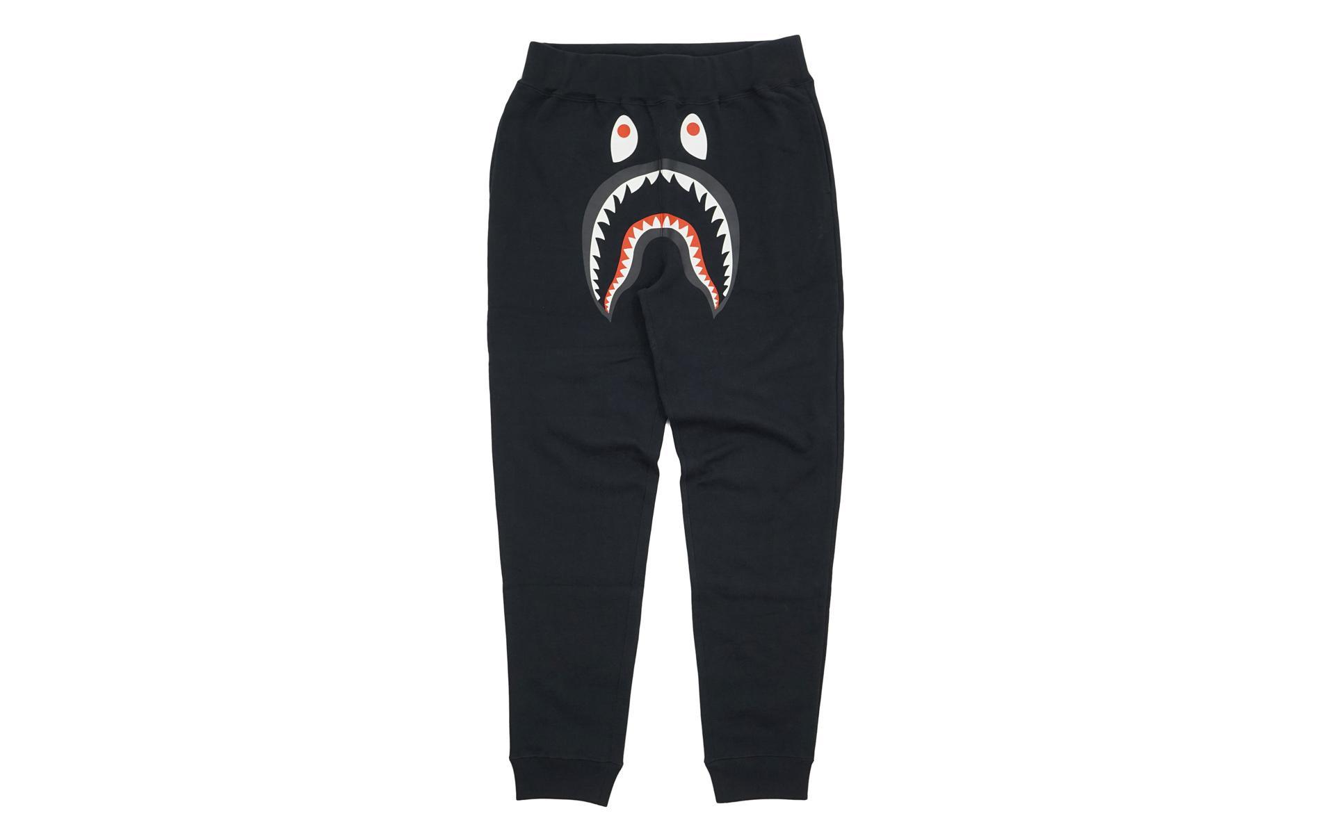 c65cf731 A Bathing Ape - Wgm Shark Slim Sweatpants Black for Men - Lyst. View  fullscreen