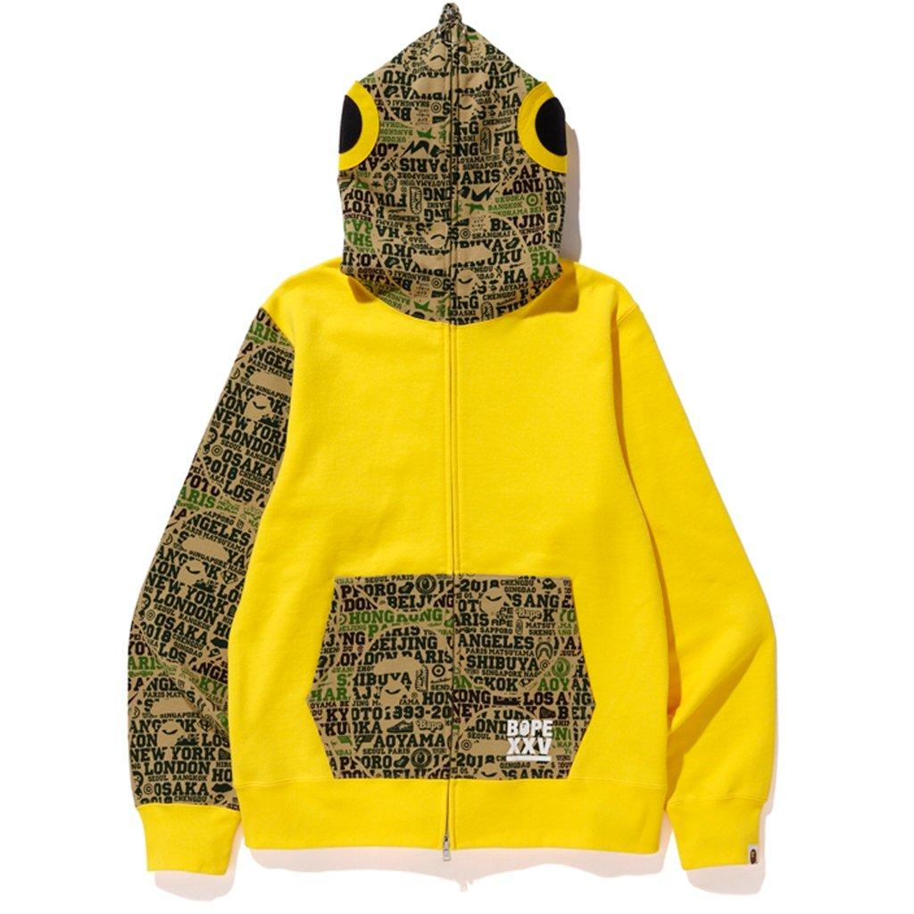 31061b260 A Bathing Ape - Xxv Cities Camo Fish Full Zip Hoodie Yellow/green for Men.  View fullscreen