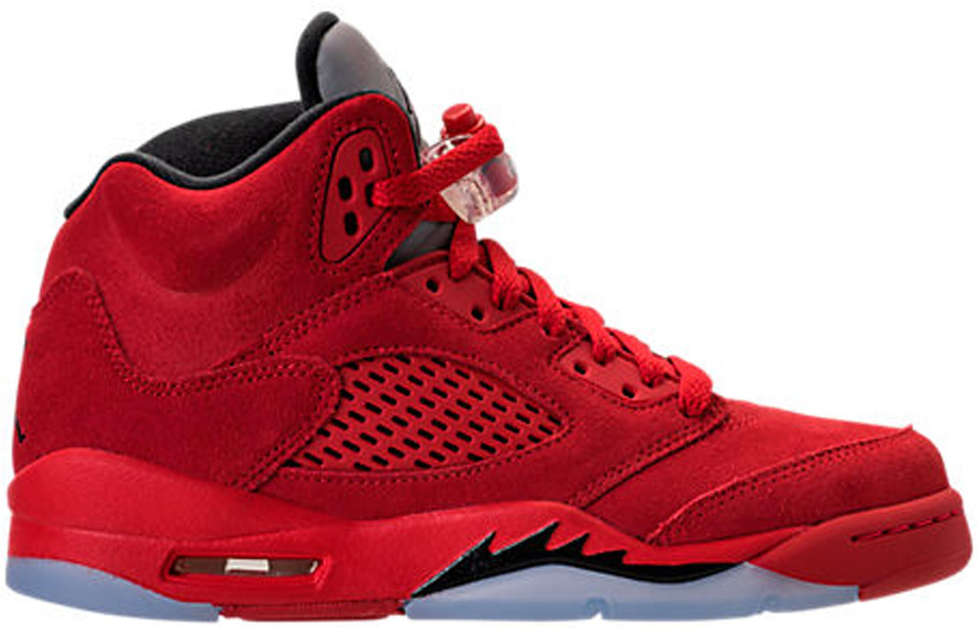 354b9187 Nike 5 Retro Red Suede (gs) in Red for Men - Lyst