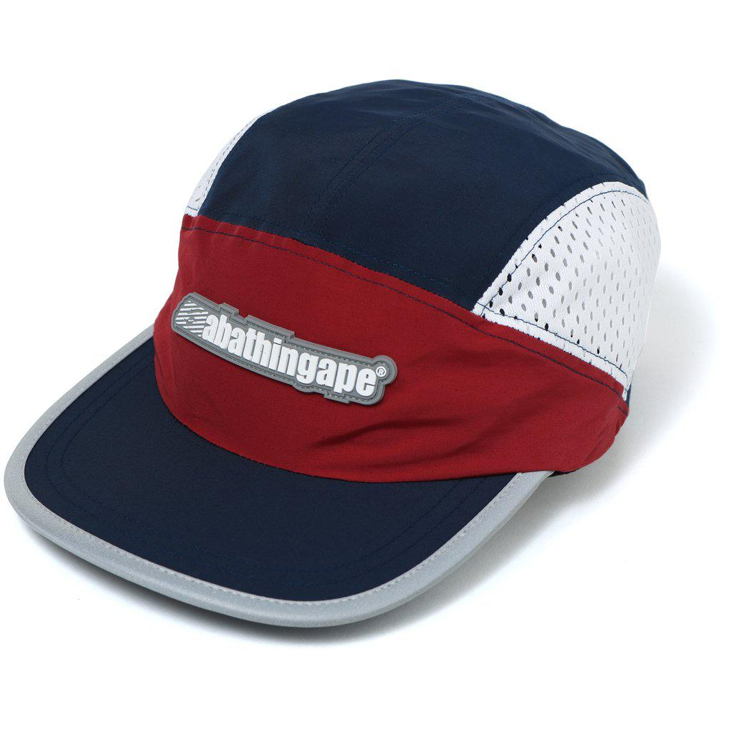 de543bb4 Lyst - A Bathing Ape Color Block Running Cap Navy in Blue for Men