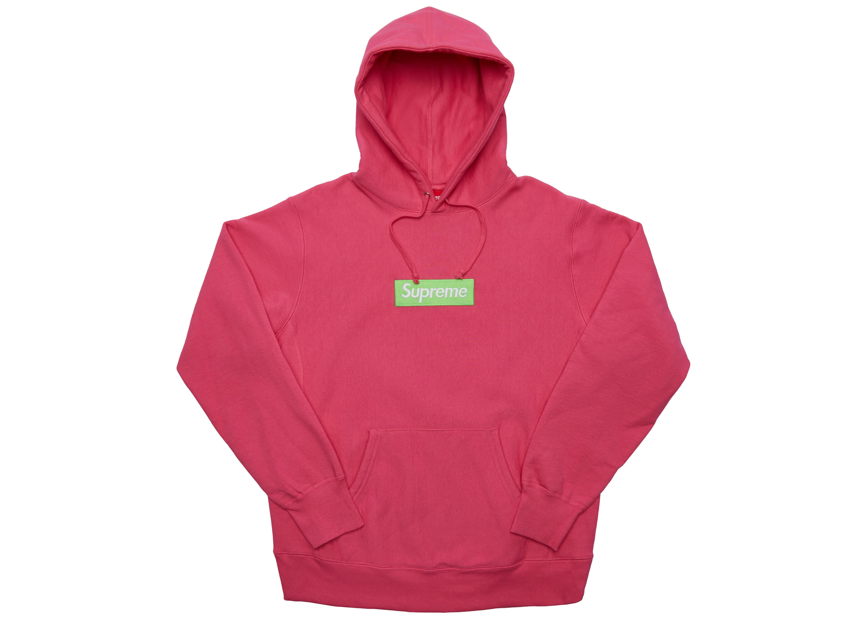 6e1d1fd1e6aa Supreme - Pink Box Logo Hooded Sweatshirt (fw17) Magenta for Men - Lyst.  View fullscreen