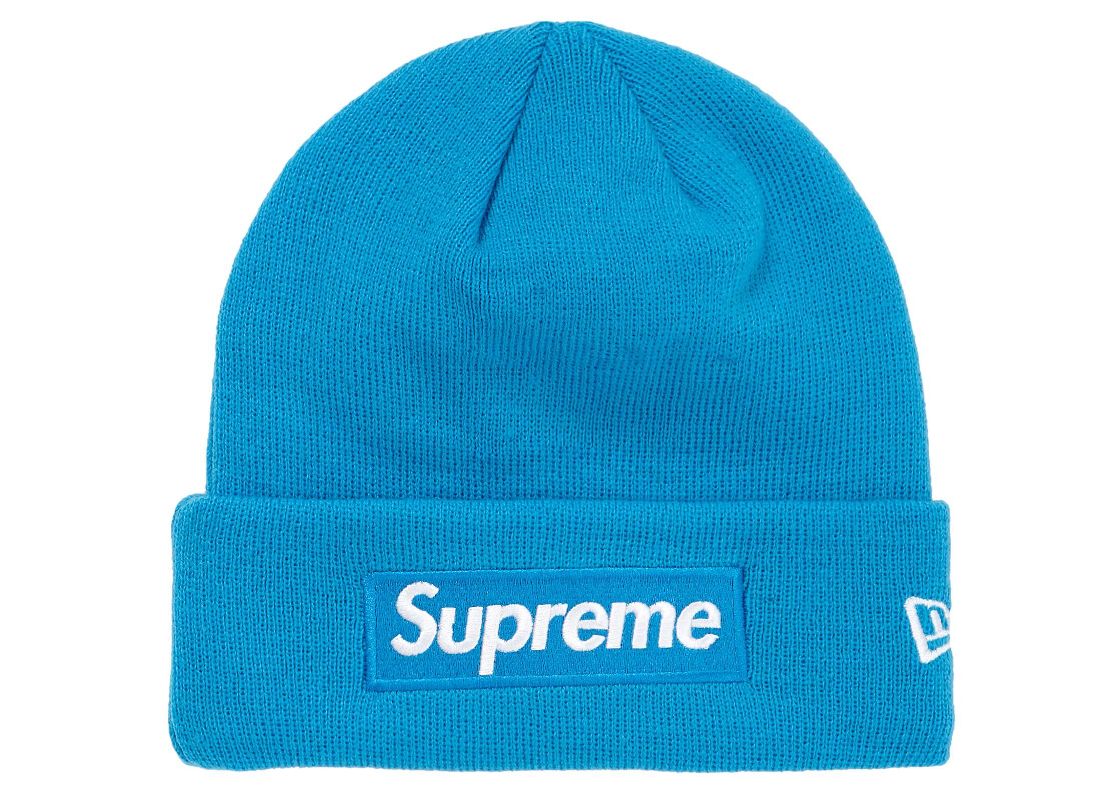 7f4cdb4a7eb38 Supreme - Blue New Era Box Logo Beanie (fw18) Bright Royal for Men -. View  fullscreen