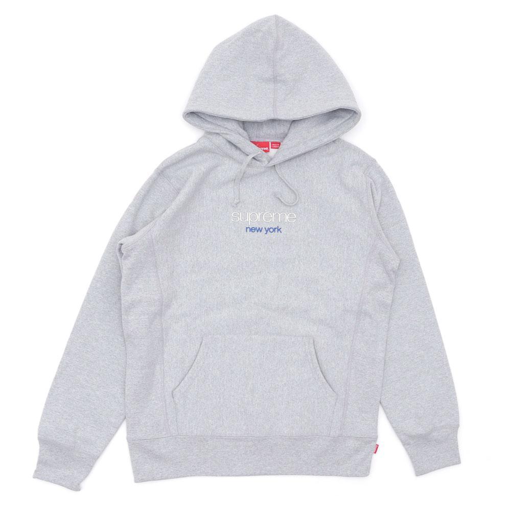 48a5f4d3152e Supreme - Gray Chrome Classic Logo Hooded Sweatshirt Grey for Men - Lyst.  View fullscreen
