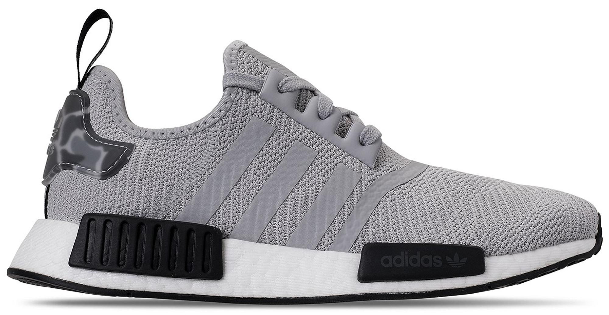 adidas Nmd R1 Grey Camo Heel in Gray