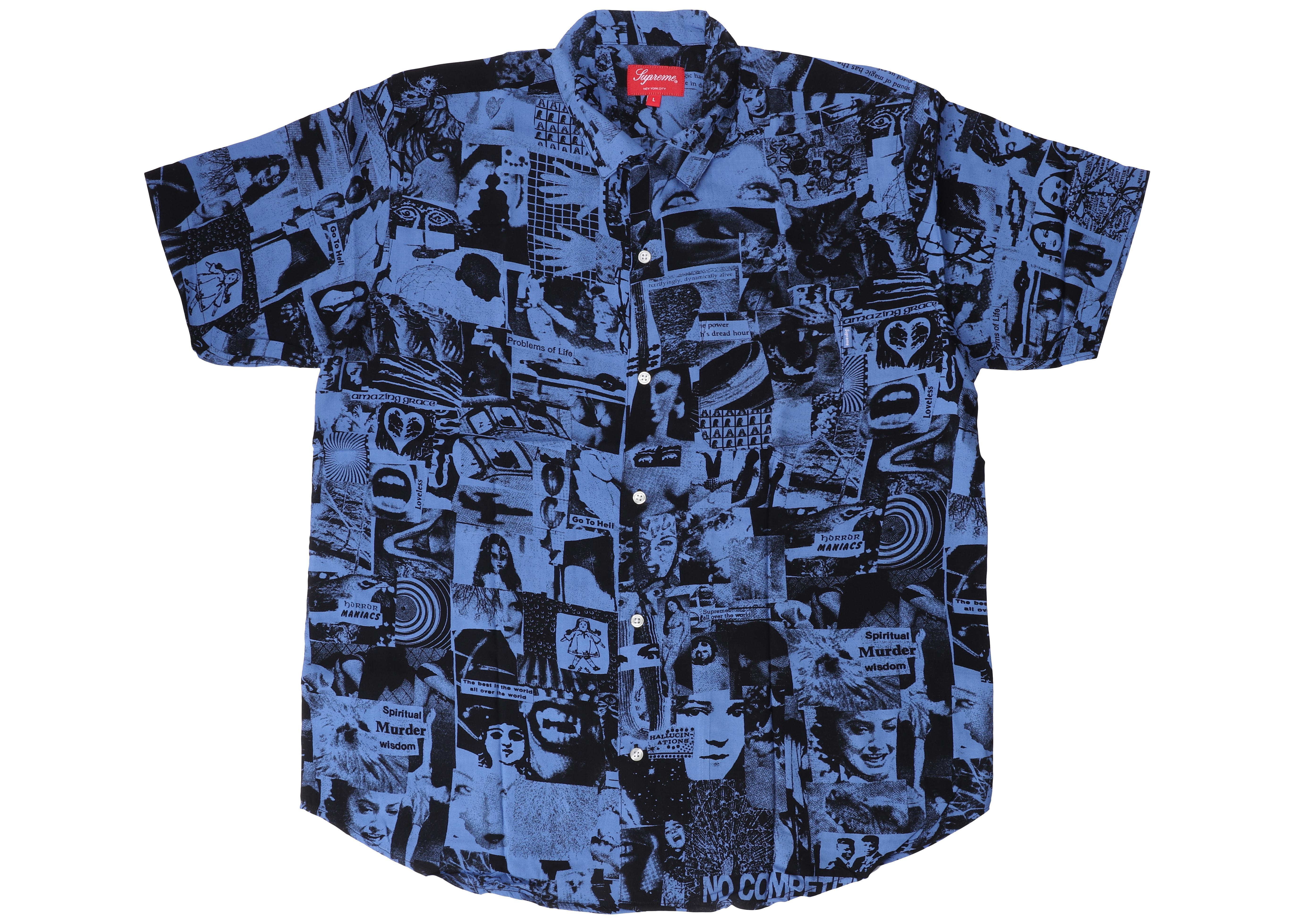 bd52999a1501 Supreme - Blue Vibrations Rayon Shirt Royal for Men - Lyst. View fullscreen
