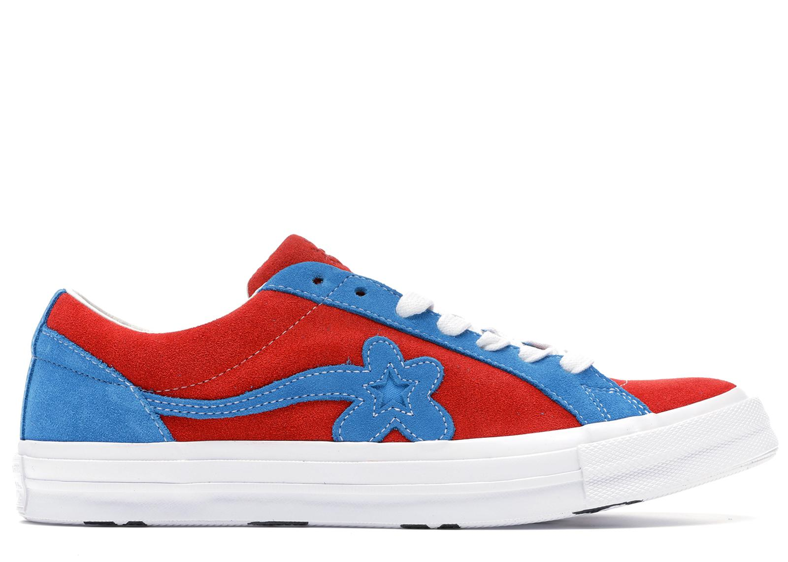 Converse Suede One Star Ox Tyler The Creator Golf Le Fleur Red Blue For Men Lyst
