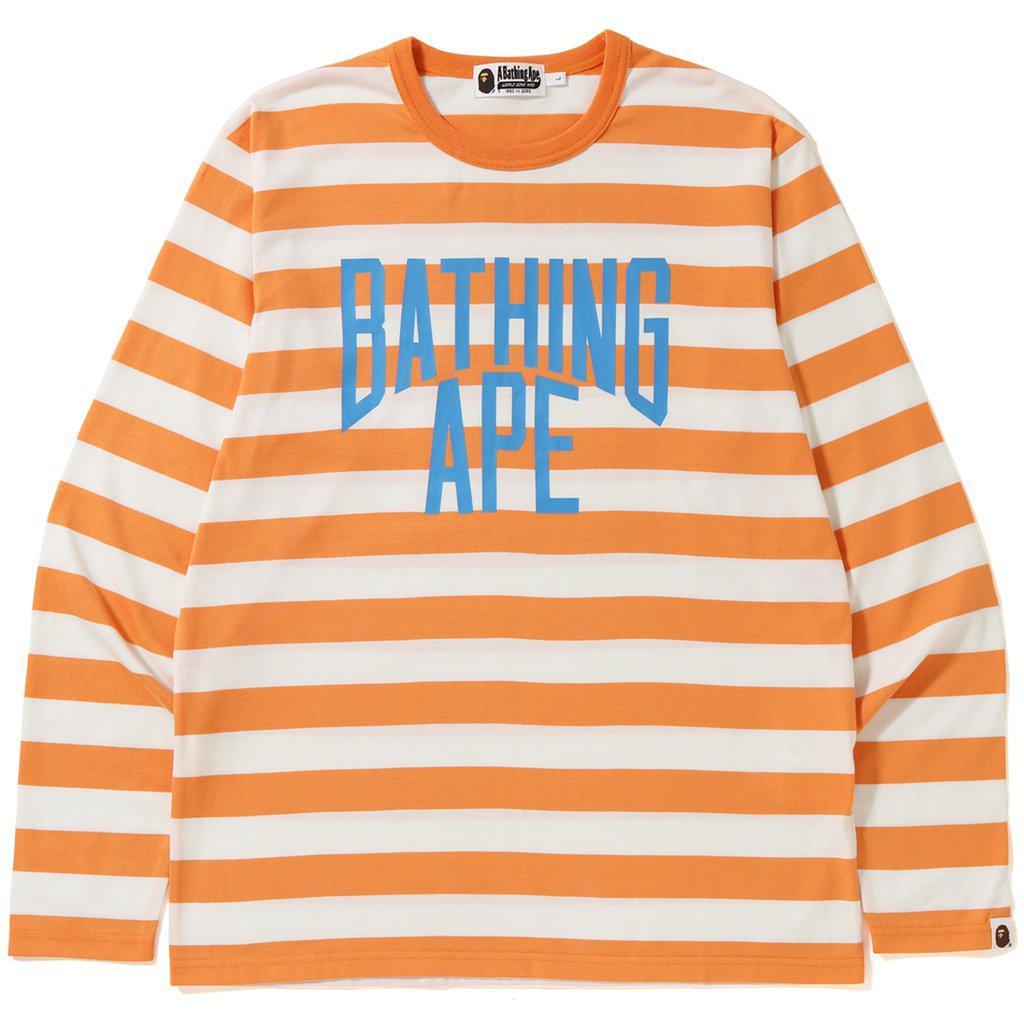 f0de5ebbf A Bathing Ape Nyc Logo Hoop Long Sleeve Tee Orange in Orange for Men ...