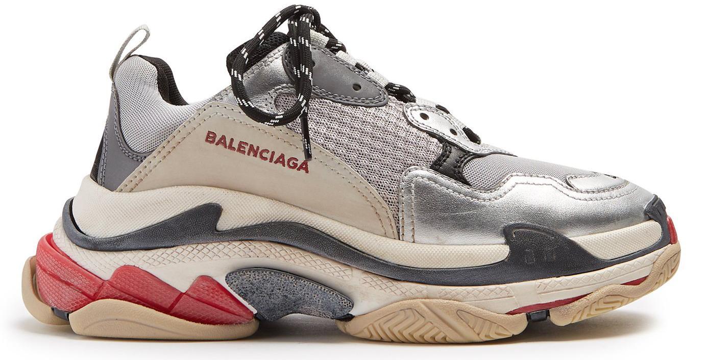 Balenciaga Triple S Silver Red (w) in