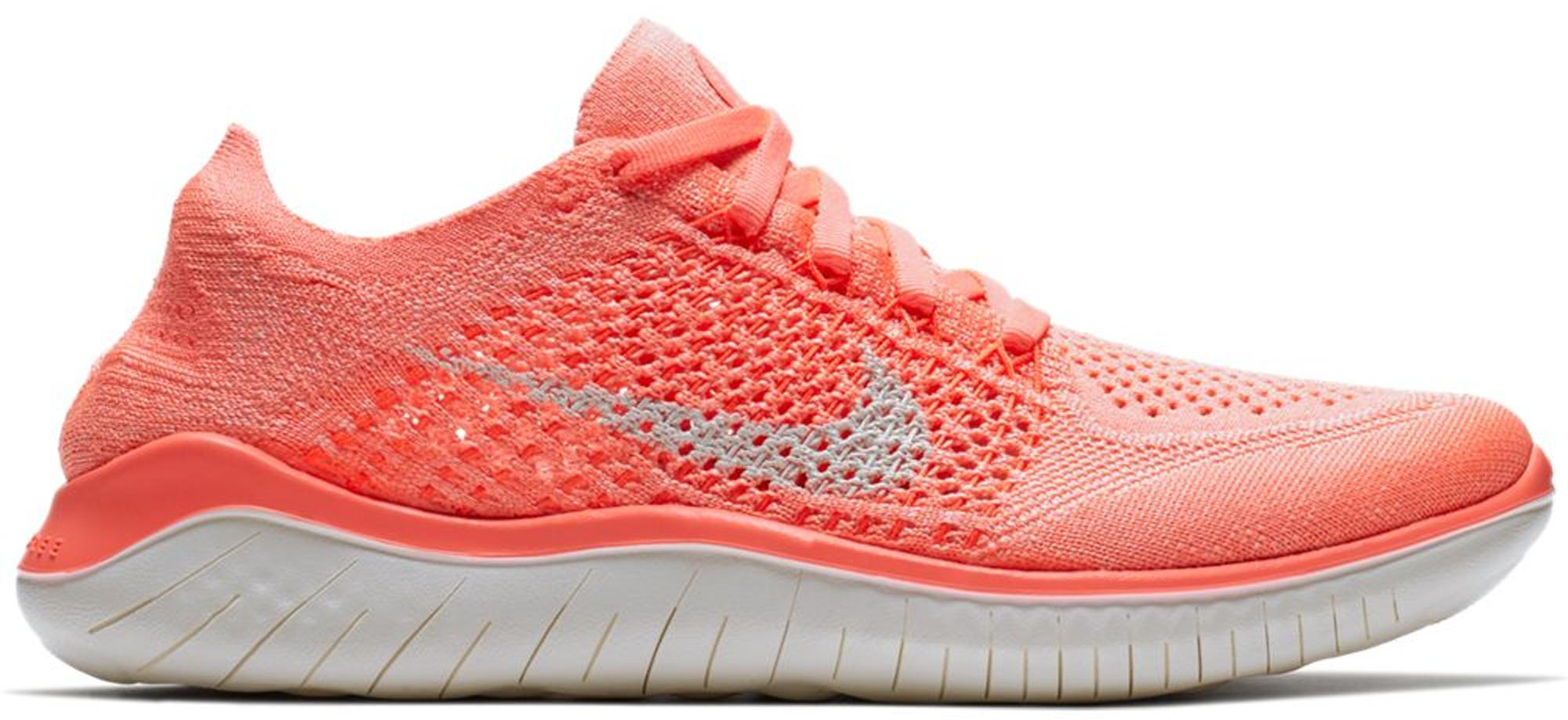 Pegajoso amor Presentar  Nike Synthetic Wmns Free Rn Flyknit 2018 Running Shoes in Red - Lyst