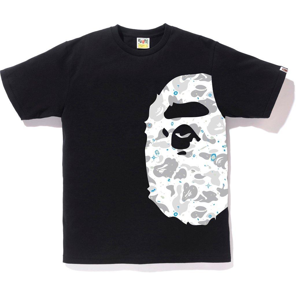91d0095d Lyst - A Bathing Ape Space Camo Side Big Ape Head Tee Black in Black ...