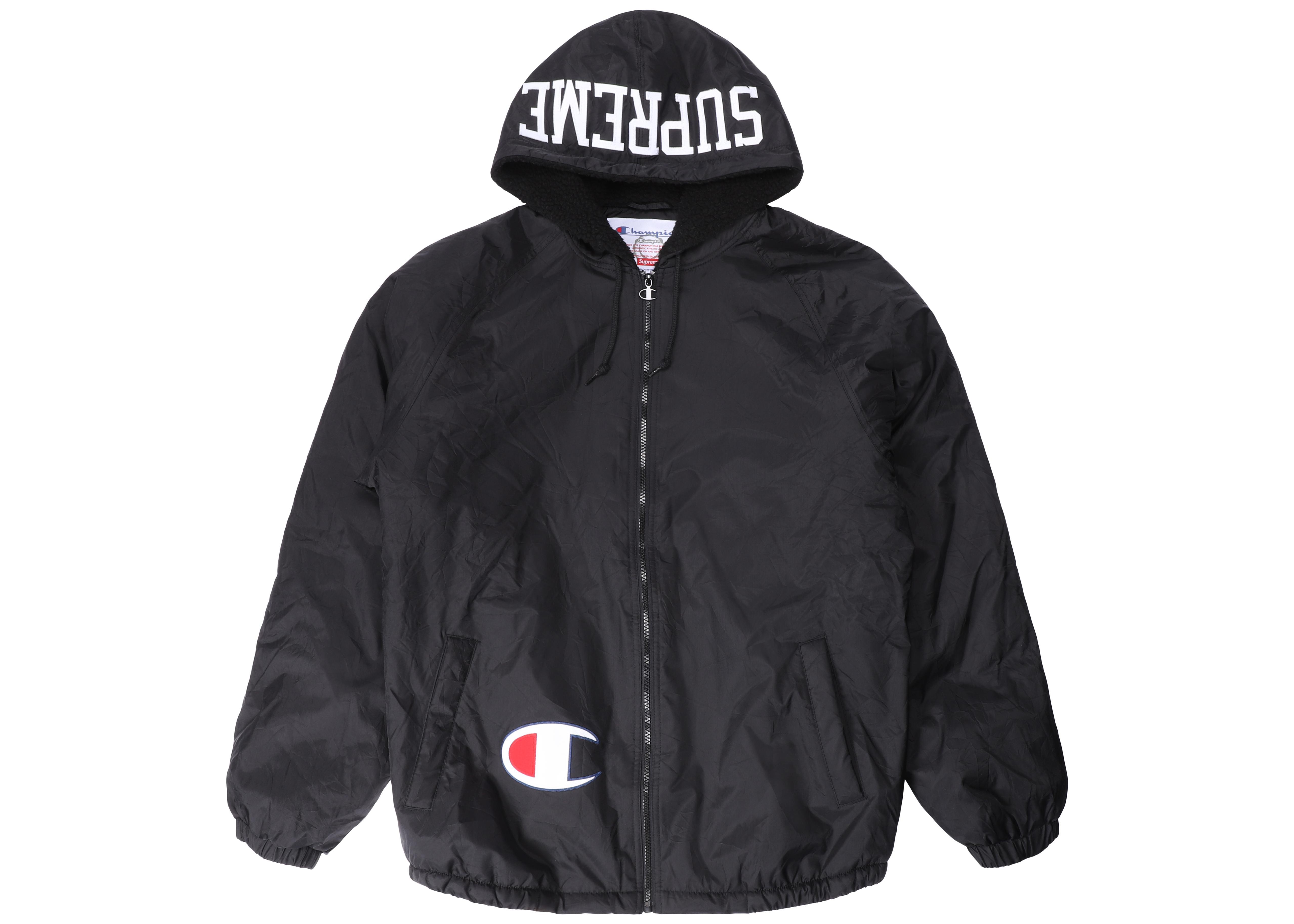 212e66e9 Supreme Champion Sherpa Lined Hooded Jacket Black in Black for Men ...