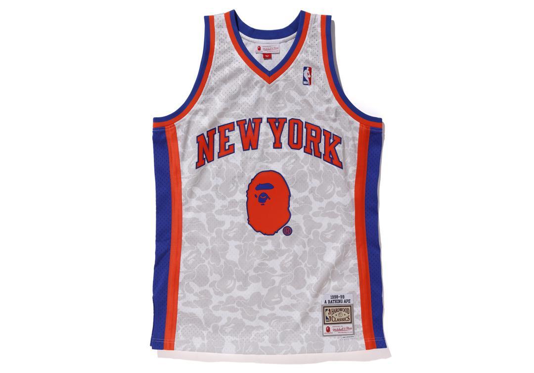 0729816ac A Bathing Ape. Men s X Mitchell   Ness Knicks Abc Basketball Swingman Jersey  White