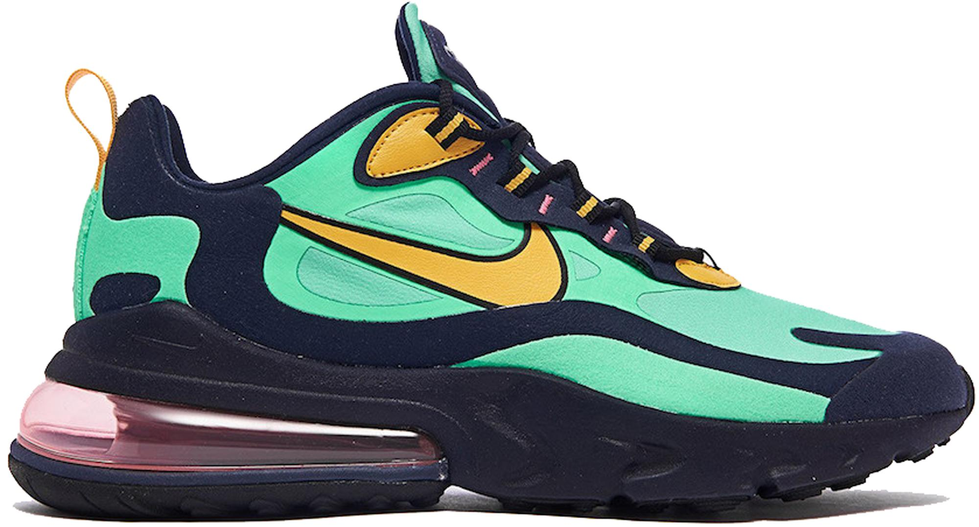 outlet store 17066 2d82f Men's Air Max 270 React Electro Green Yellow Ochre Obsidian