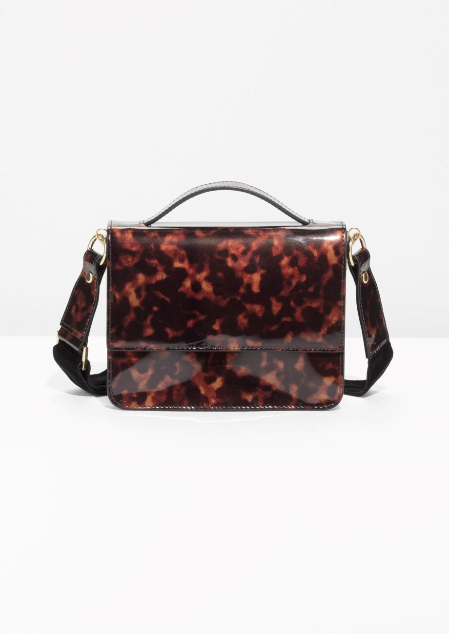 & other stories Patent Leather Tortoise Shell Mini Bag