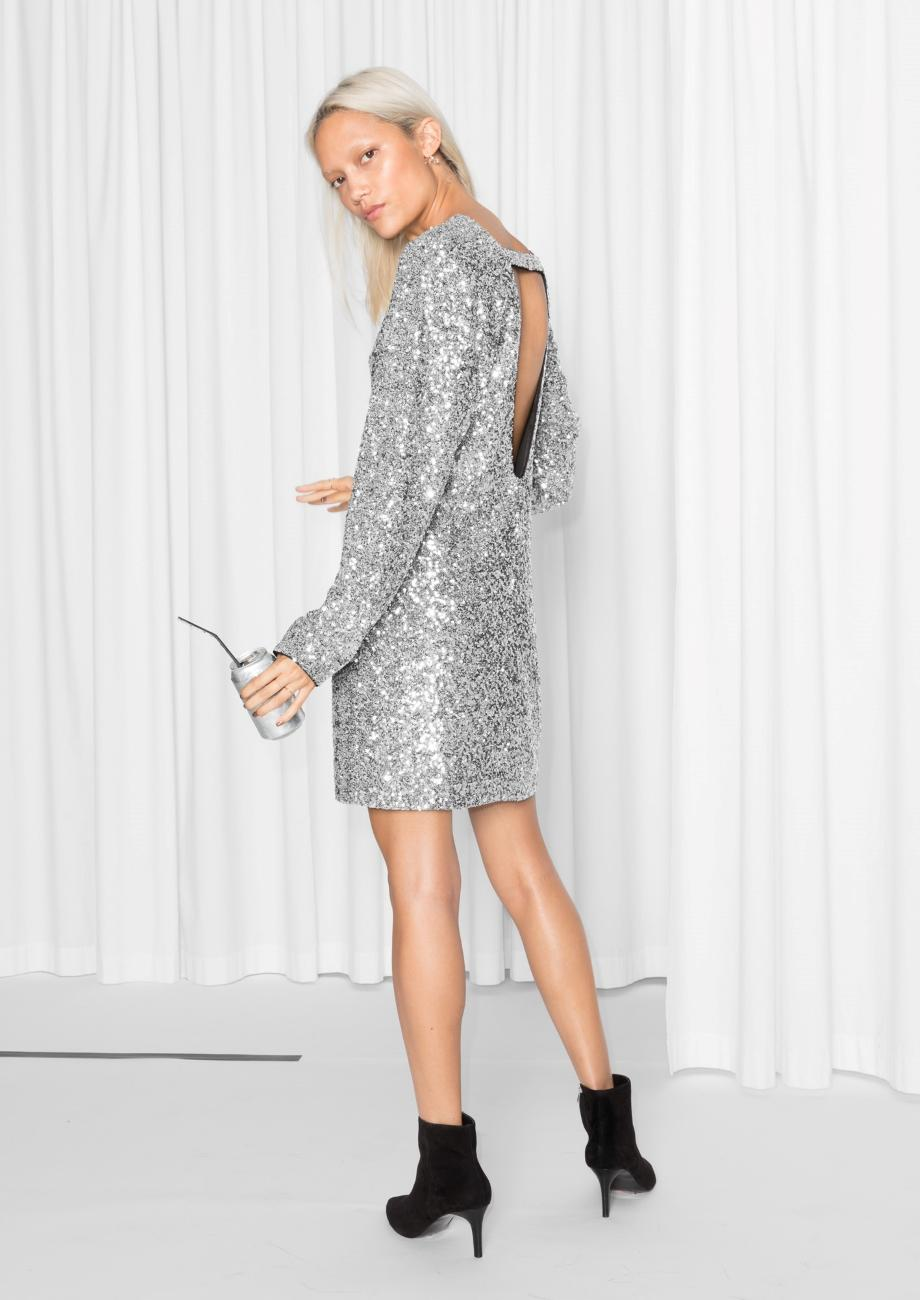 & other stories Sequin Dress in Gray