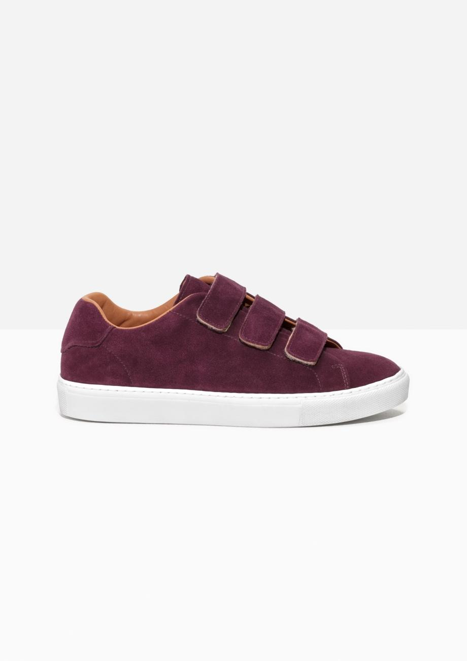 other stories scratch strap leather sneaker in red for men lyst. Black Bedroom Furniture Sets. Home Design Ideas