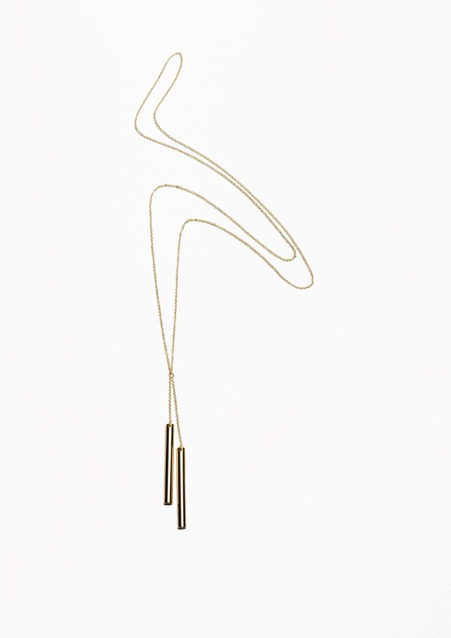 & Other Stories Bar Pendant Necklace in Gold (Metallic)