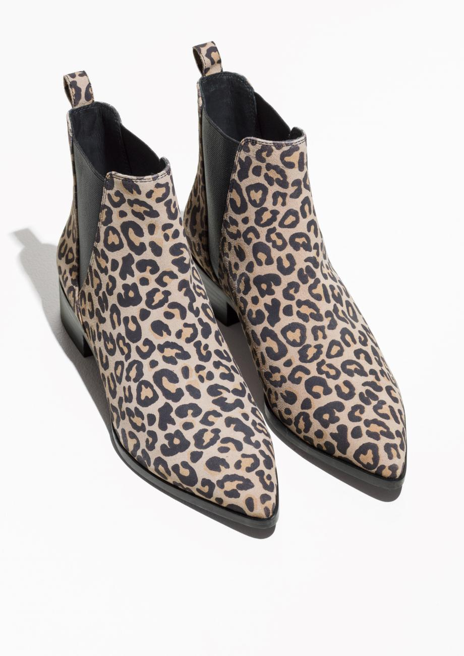 & Other Stories Leather Leo Chelsea Boots