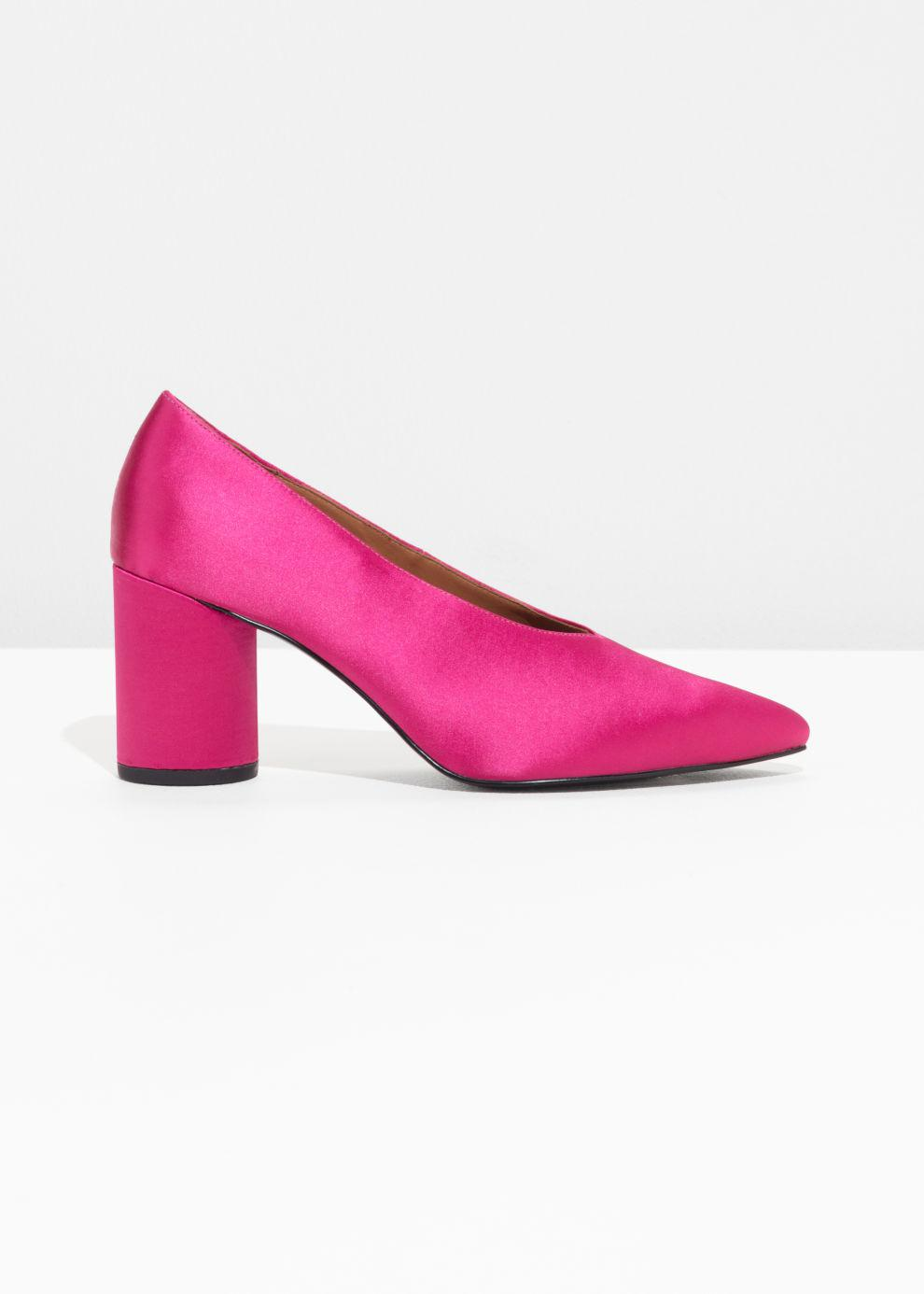 \u0026 Other Stories Satin Pumps in Pink - Lyst