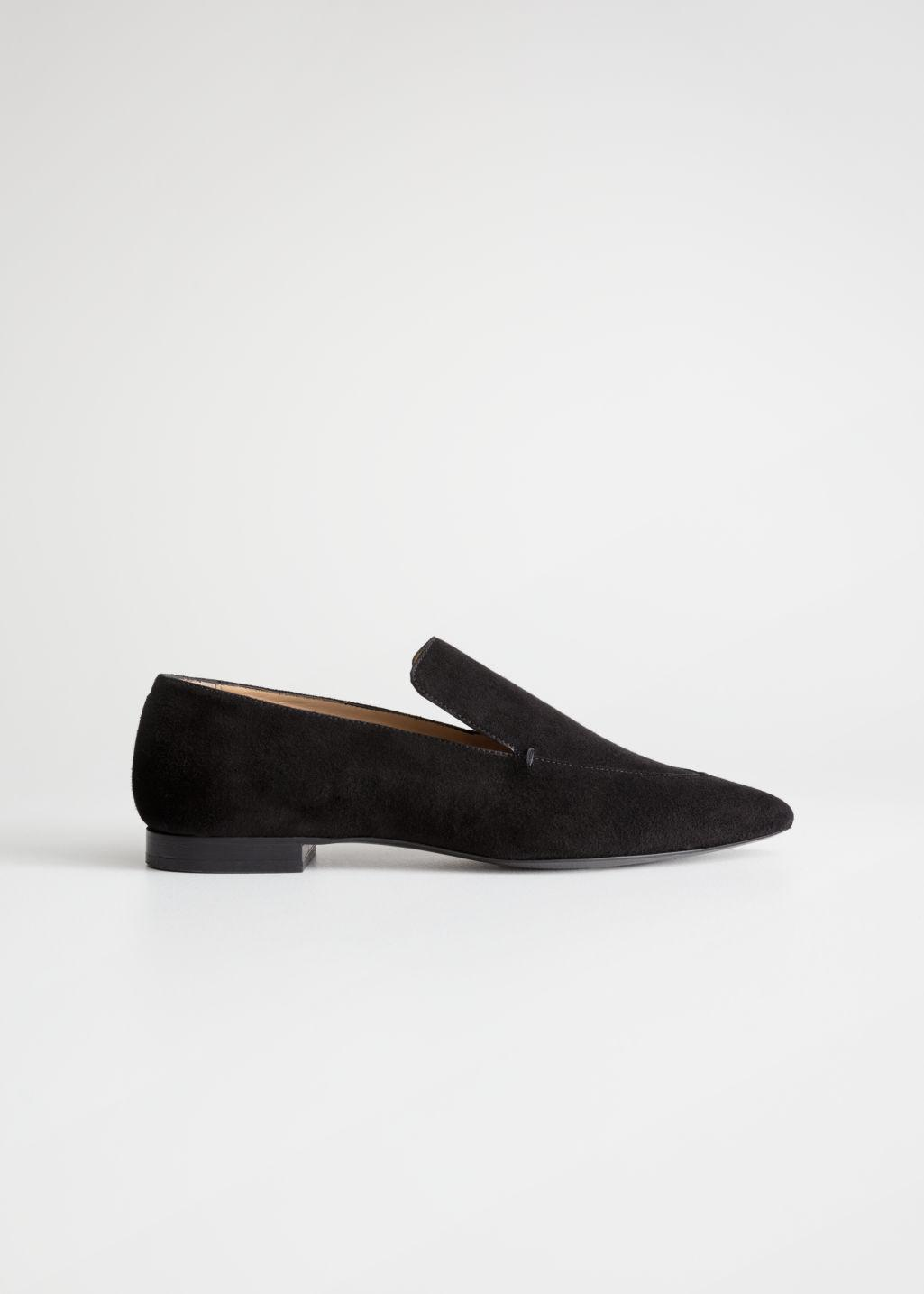 372bc5e1a2b Lyst -   Other Stories Pointed Loafers in Black