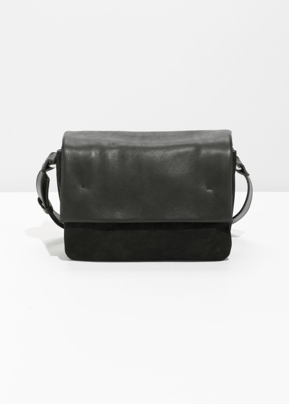 Other Stories Leather Crossbody Bag in Black - Lyst d98b6bc2cb3d3