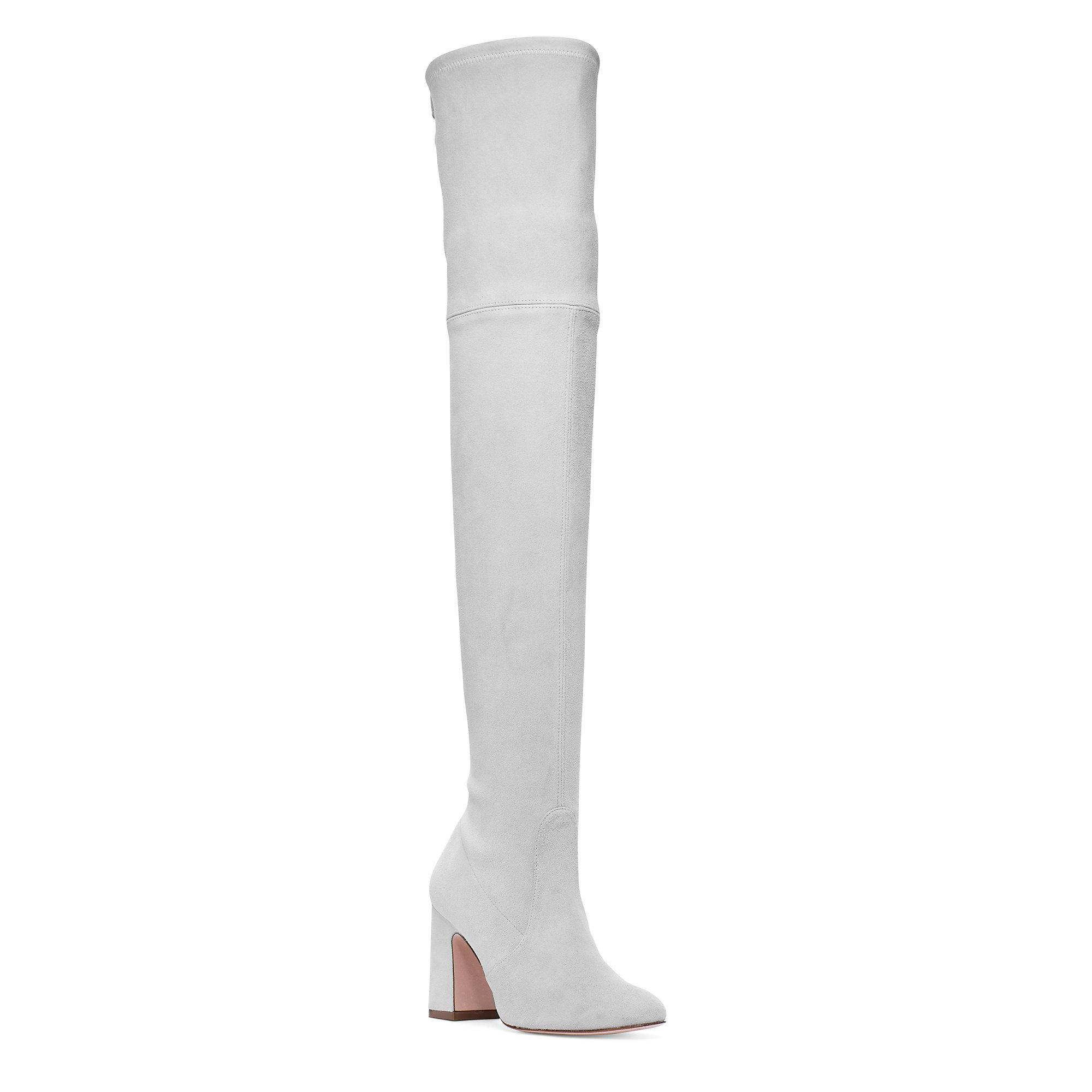 9bd48f309a2f Stuart Weitzman - Gray The Kirstie 90 Boot - Lyst. View fullscreen
