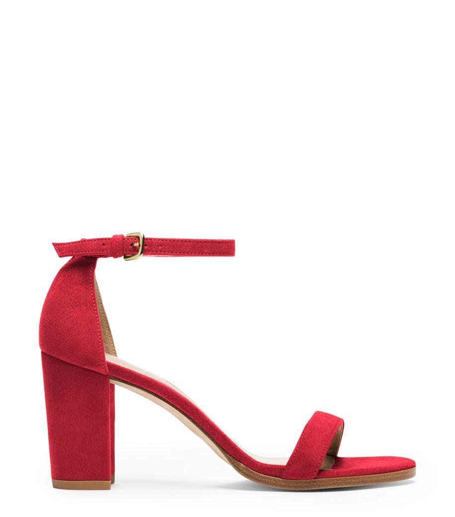Stuart Weitzman. Women's Red The Nearlynude Sandal